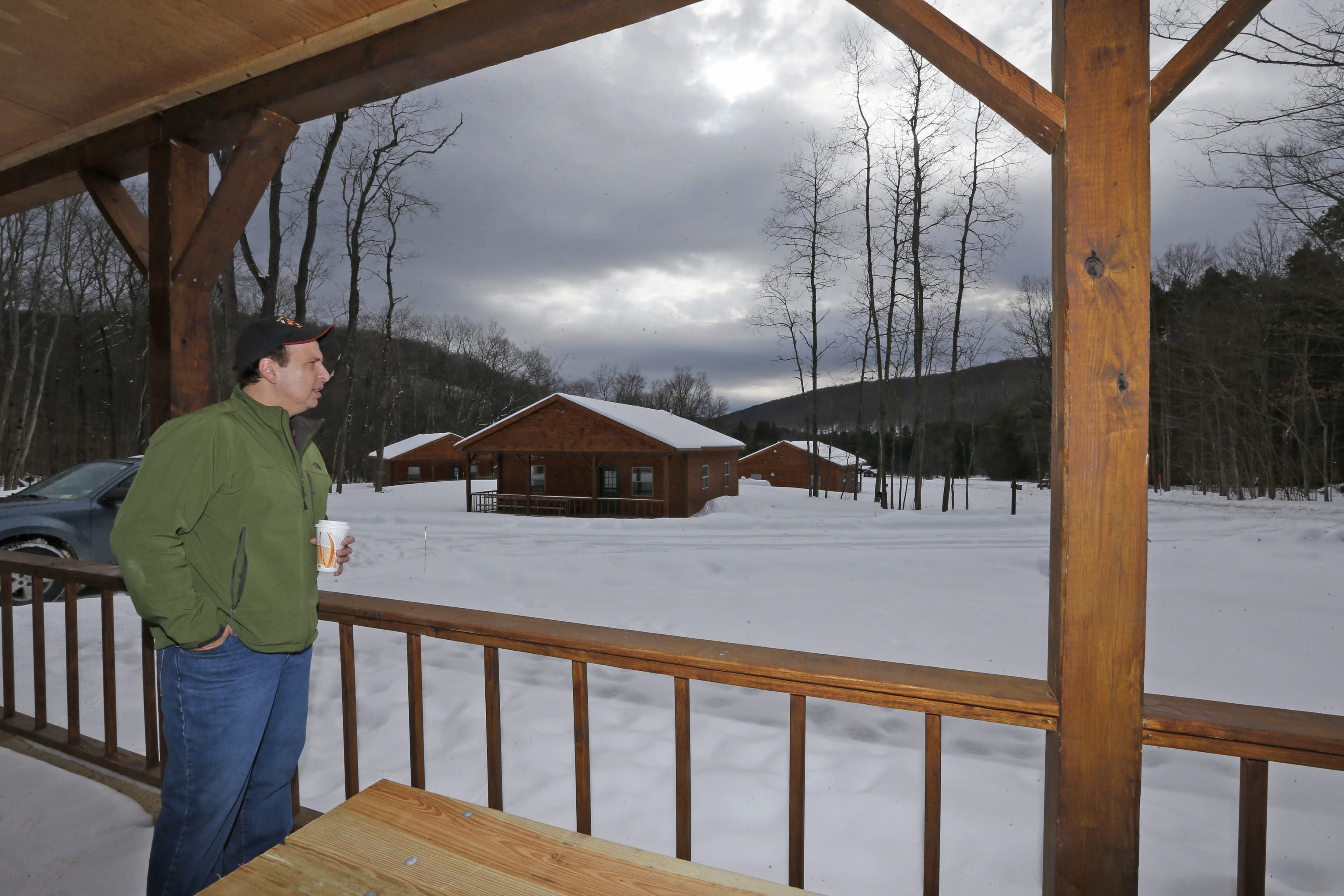 Property And Concession Manager John Marino Stands In Front Of One Of The  New, Fully