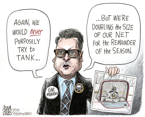 Buffalo News political cartoonist Adam Zyglis drew this cartoon on Tim Murray on Feb. 28, 2015.