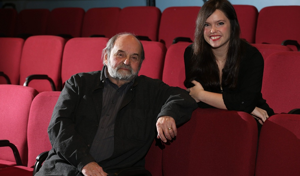 "Saul Elkin and his daughter Rebecca Elkin-Young take a break from rehearsals for the Jewish Repertory Theatre's ""Beau Jest,"" the third time they've played opposite one another as father and daughter. (Sharon Cantillon/Buffalo News)"