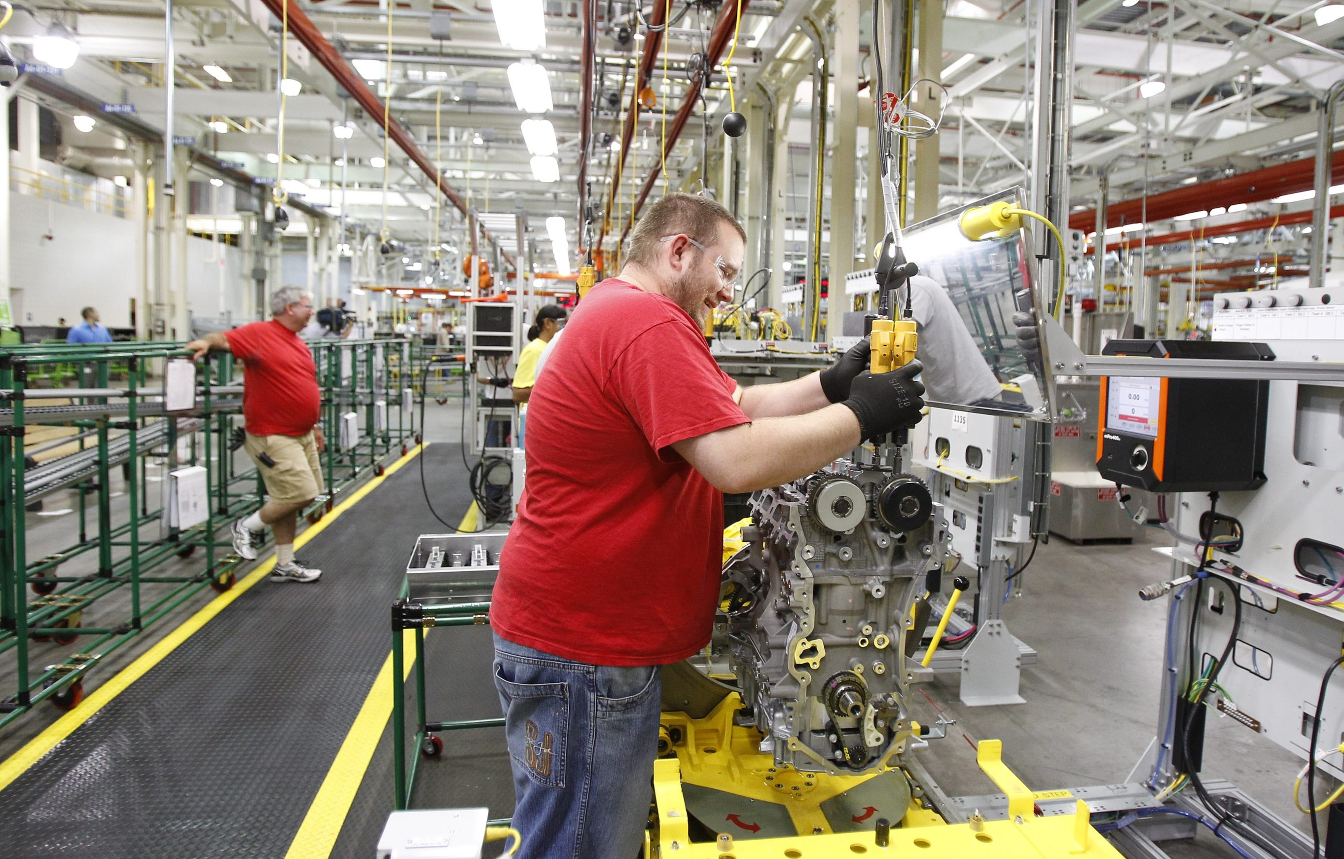 "Engine assembly at the General Motors plant in the Town of Tonawanda is part of the larger manufacturing sector in the Buffalo Niagara region, which in January showed strong growth, although an expert cautioned, ""A single month does not a trend make."""