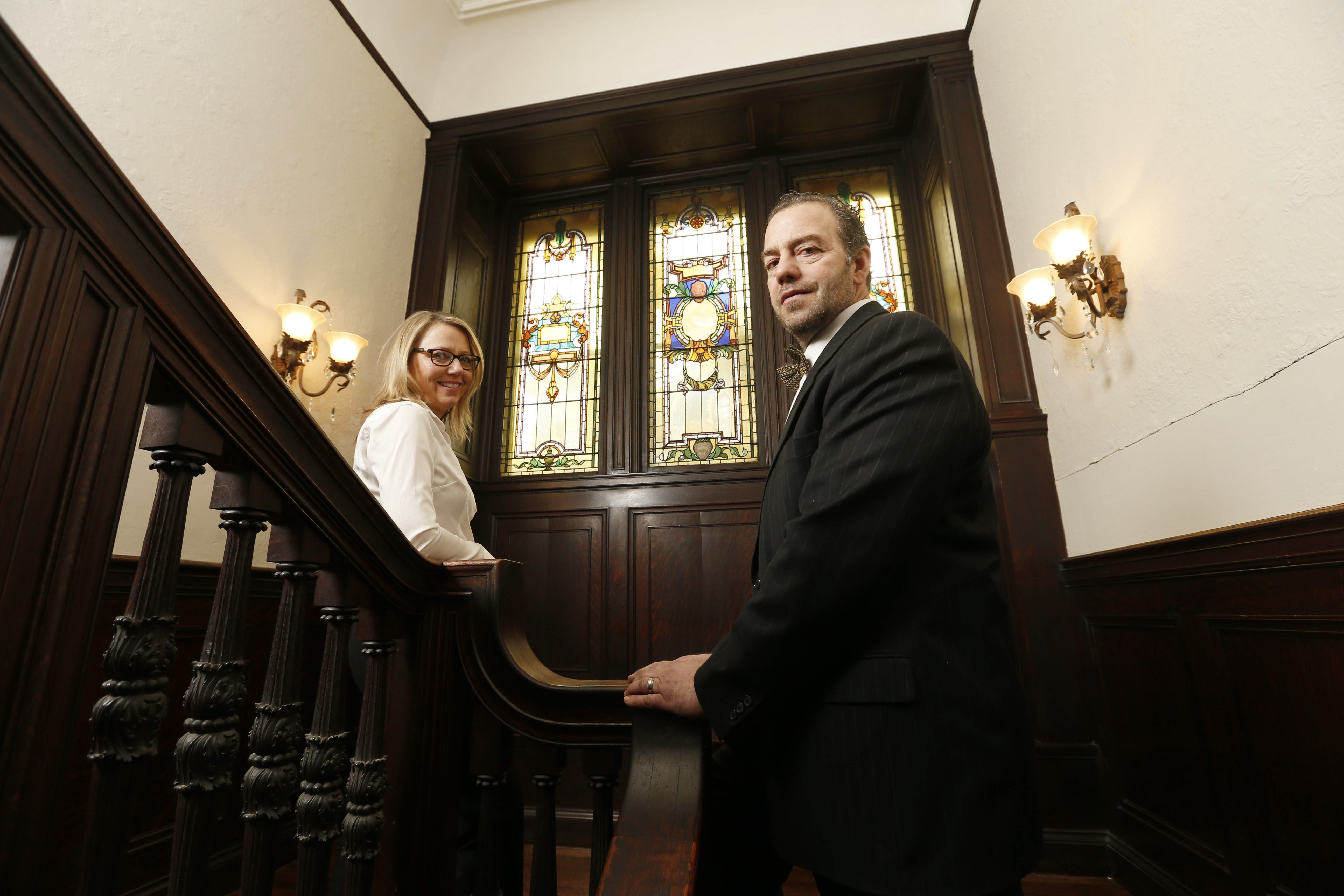 Joseph and Ellen Lettieri bought the once-grand Hewitt mansion at city auction three years ago for $183,000.