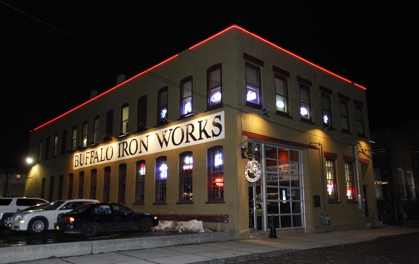 Buffalo Iron Works hosts an event on Wednesday night in the Cobblestone District.