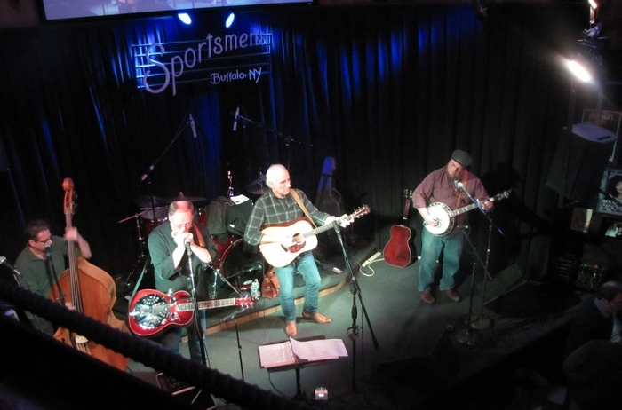 Mountain Run performs at the Sportsmen's Tavern on Sunday.
