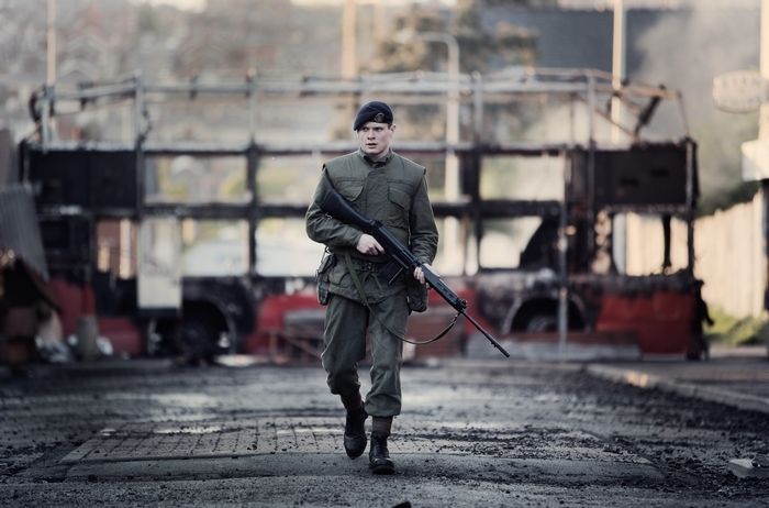 "Jack O'Connell stars in the compelling war drama "" '71."""