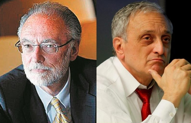 Other Buffalo School Board members do not support a resolution from Carl P. Paladino, right, to fire interim Superintendent Donald Ogilvie, left.