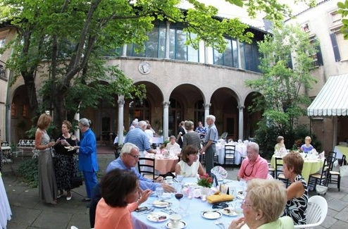 Patrons eat in the courtyard of the Twentieth Century Club, the site of an Explore Buffalo tour. (Buffalo News file photo)