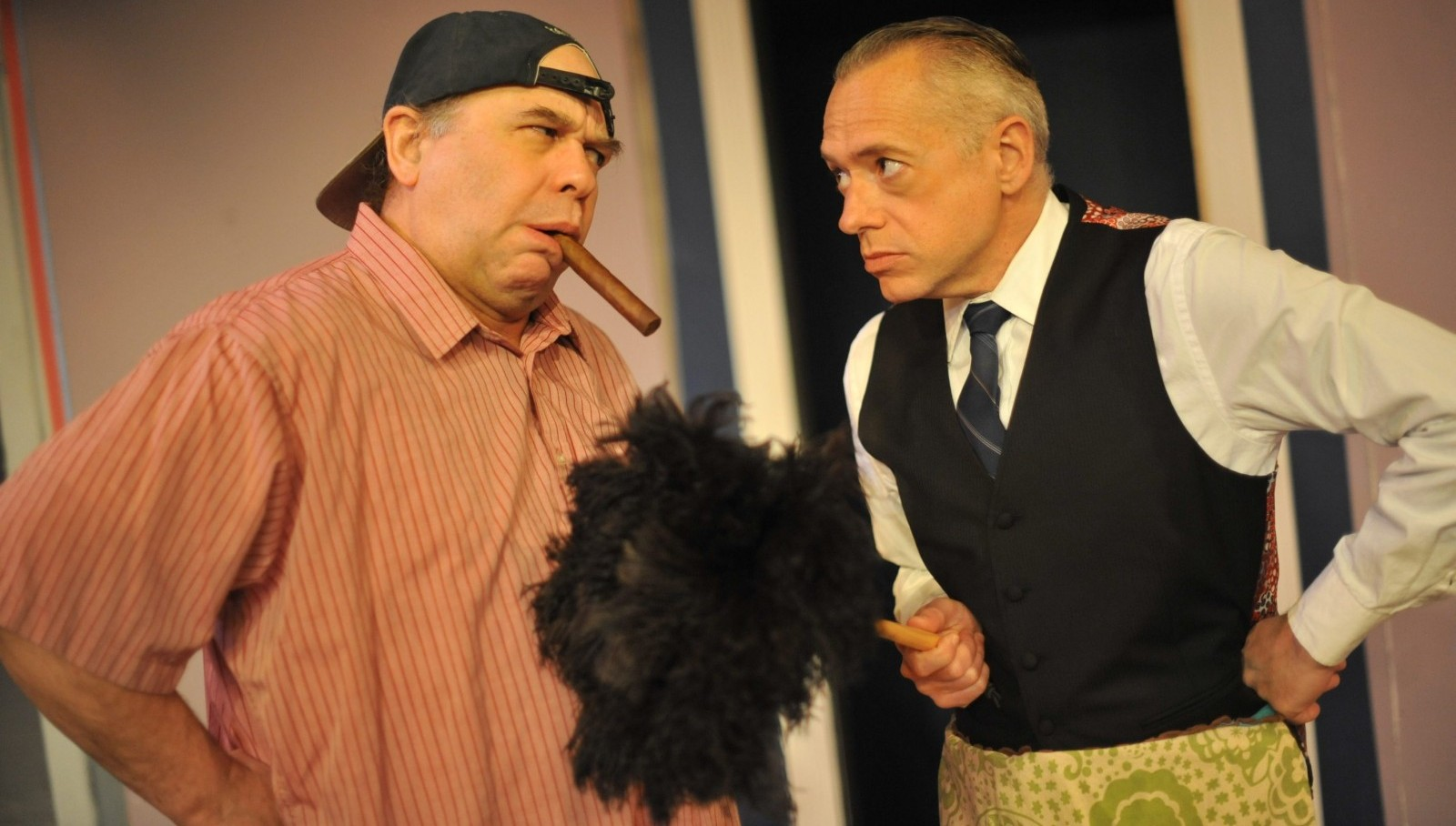 "Tom Loughlin and Tim Newell star in Jewish Repertory Theatre's production of ""The Odd Couple."""