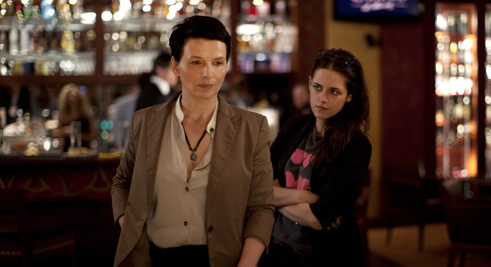 "Juliette Binoche, left, and Kristen Stewart give memorable performances in ""Clouds of Sils Maria."""