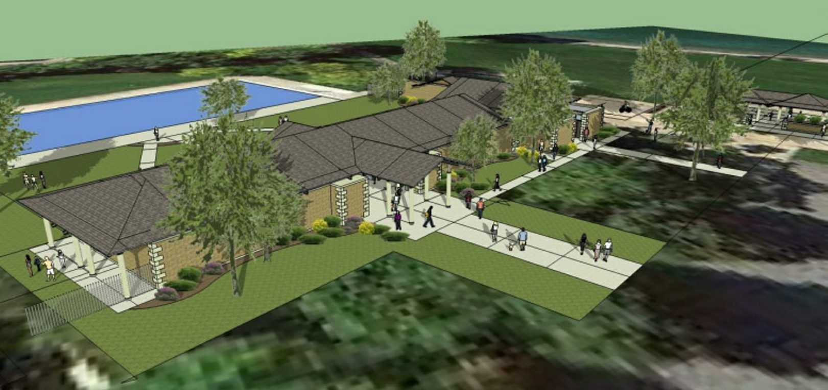 The proposed bathhouse in Fort Niagara State Park in Youngstown is seen in this rendering. The $2.5 million project will include restrooms, showers and a lifeguard station.