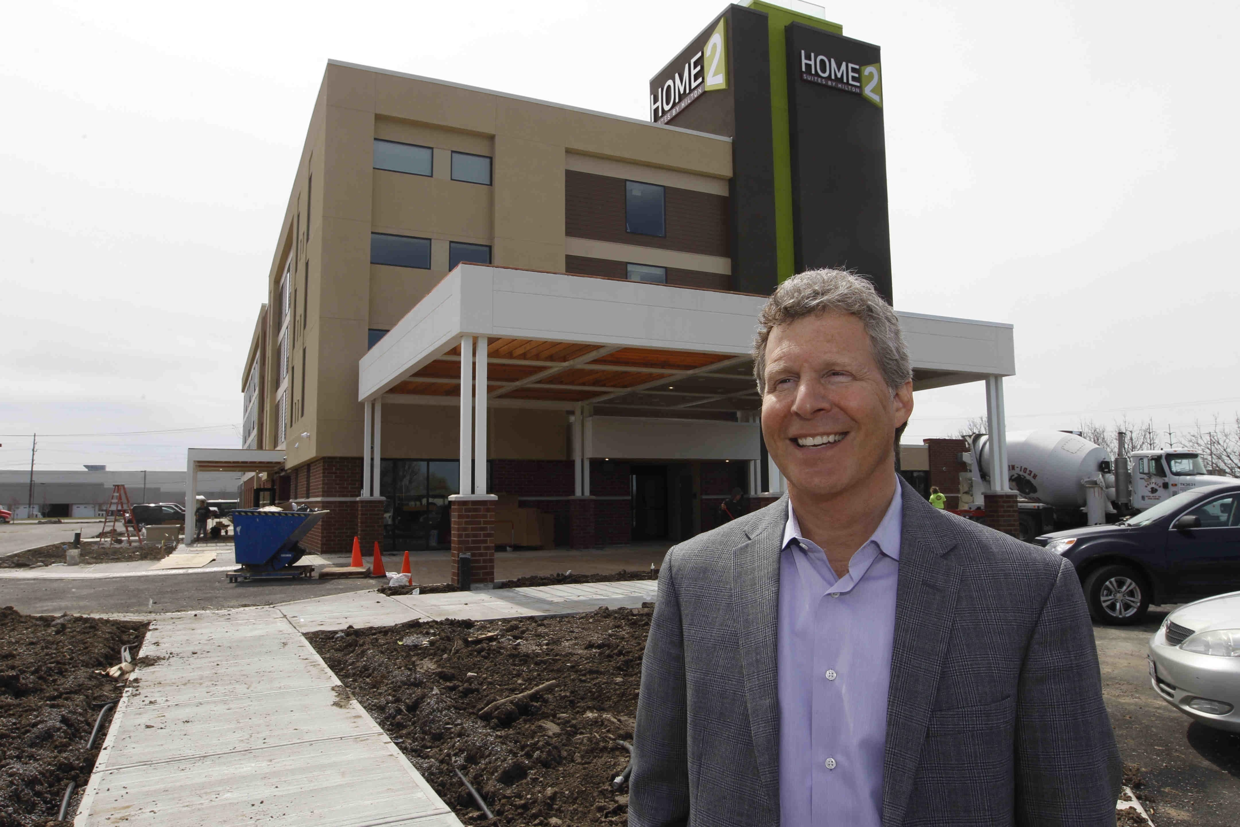 Eric Recoon of Benderson Development describes the new Home2 Suites as welcoming and inviting.