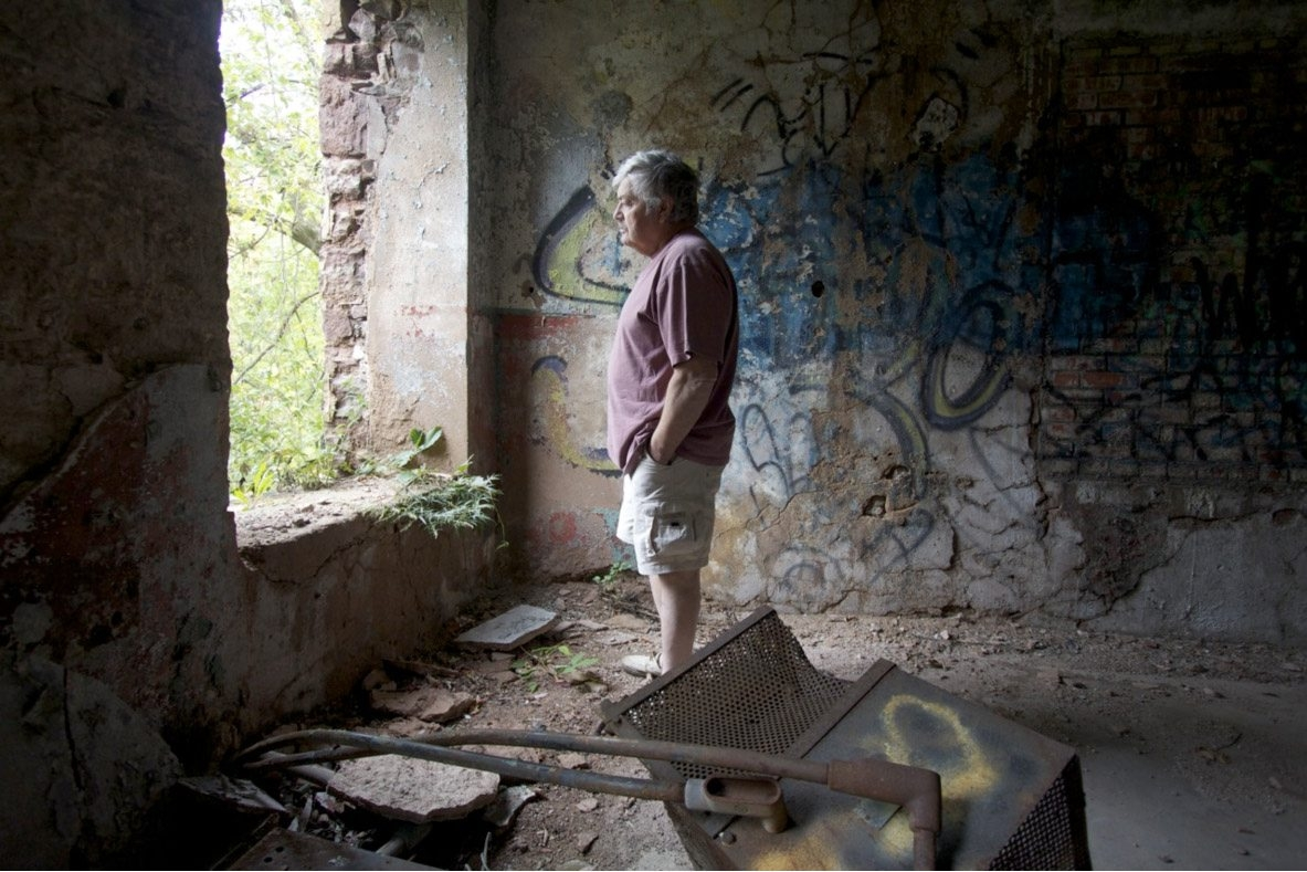Ken Pelletier, a former Flintkote employee who has had health problems since working at the former building materials plant, is shown in photo portrait by Tanya Stadelmann, whose film about the Superfund site at Eighteen Mile Creek debuts Thursday.