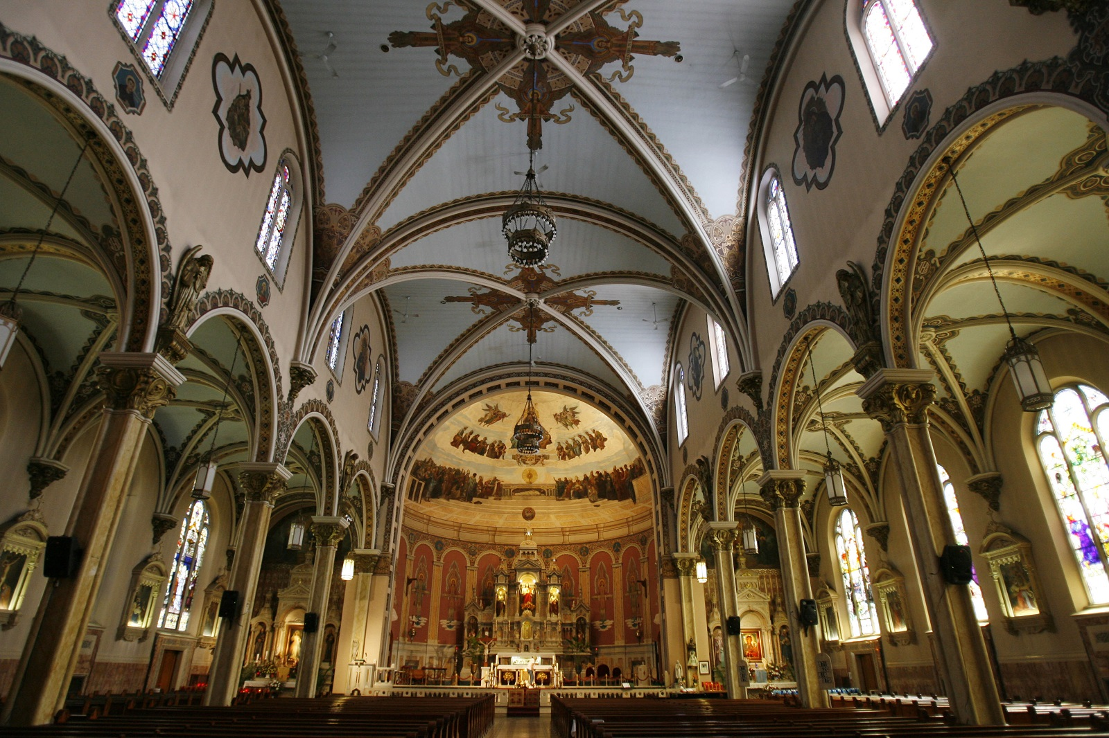 The jaw-dropping view inside the Corpus Christi Church. (Sharon Cantillon/Buffalo News file photo)