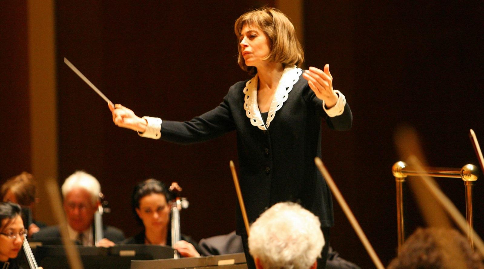 Conductor JoAnn Falletta and the Buffalo Philharmonic Orchestra. (Buffalo News file photo)