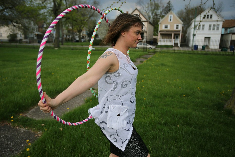 Ultra Hoops owner Melissa Campbell will lead Planet Hoop Thursday outside the Burchfield Penney Art Center. (Buffalo News file photo)