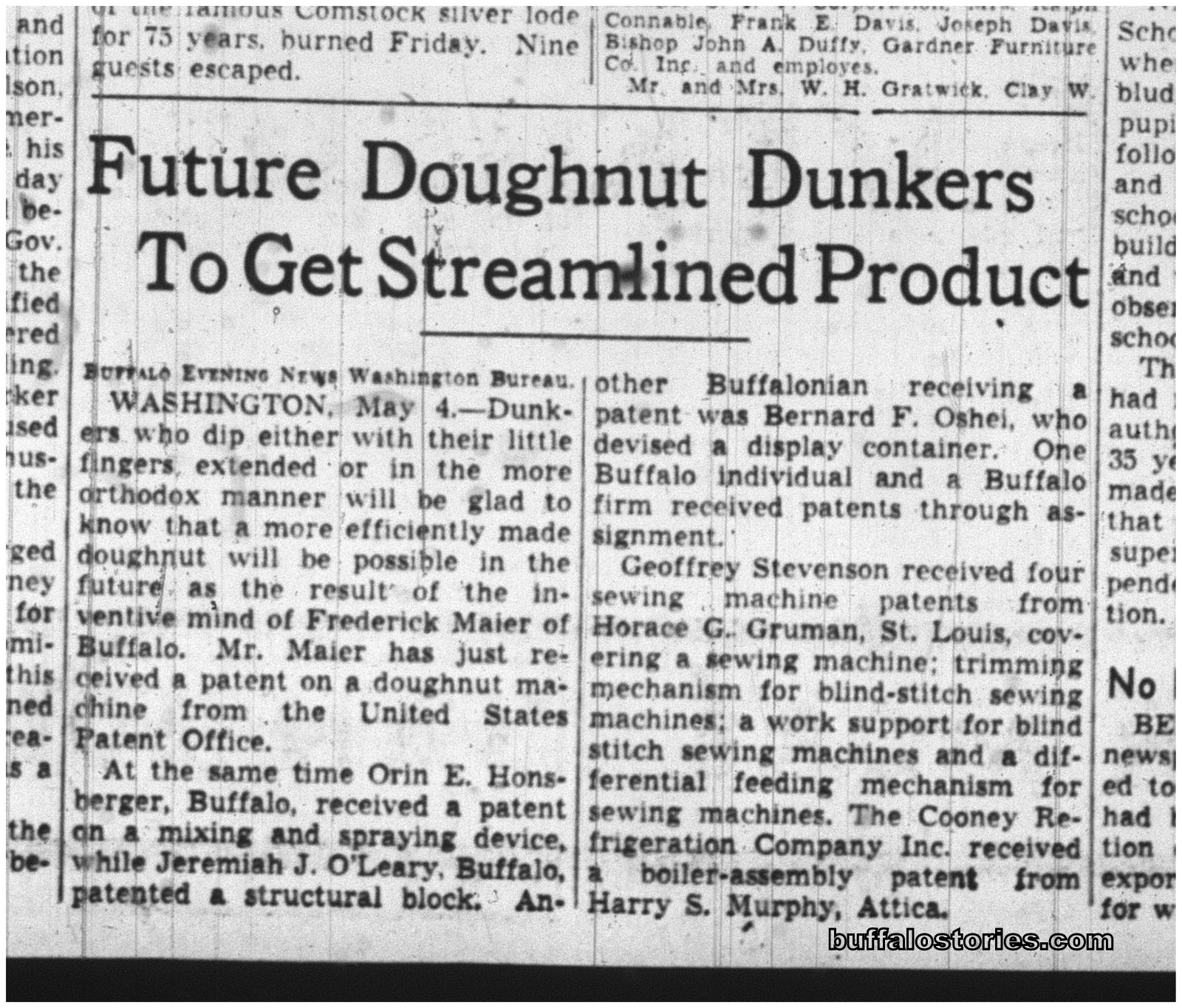 04 may 1940 freddies donut patent