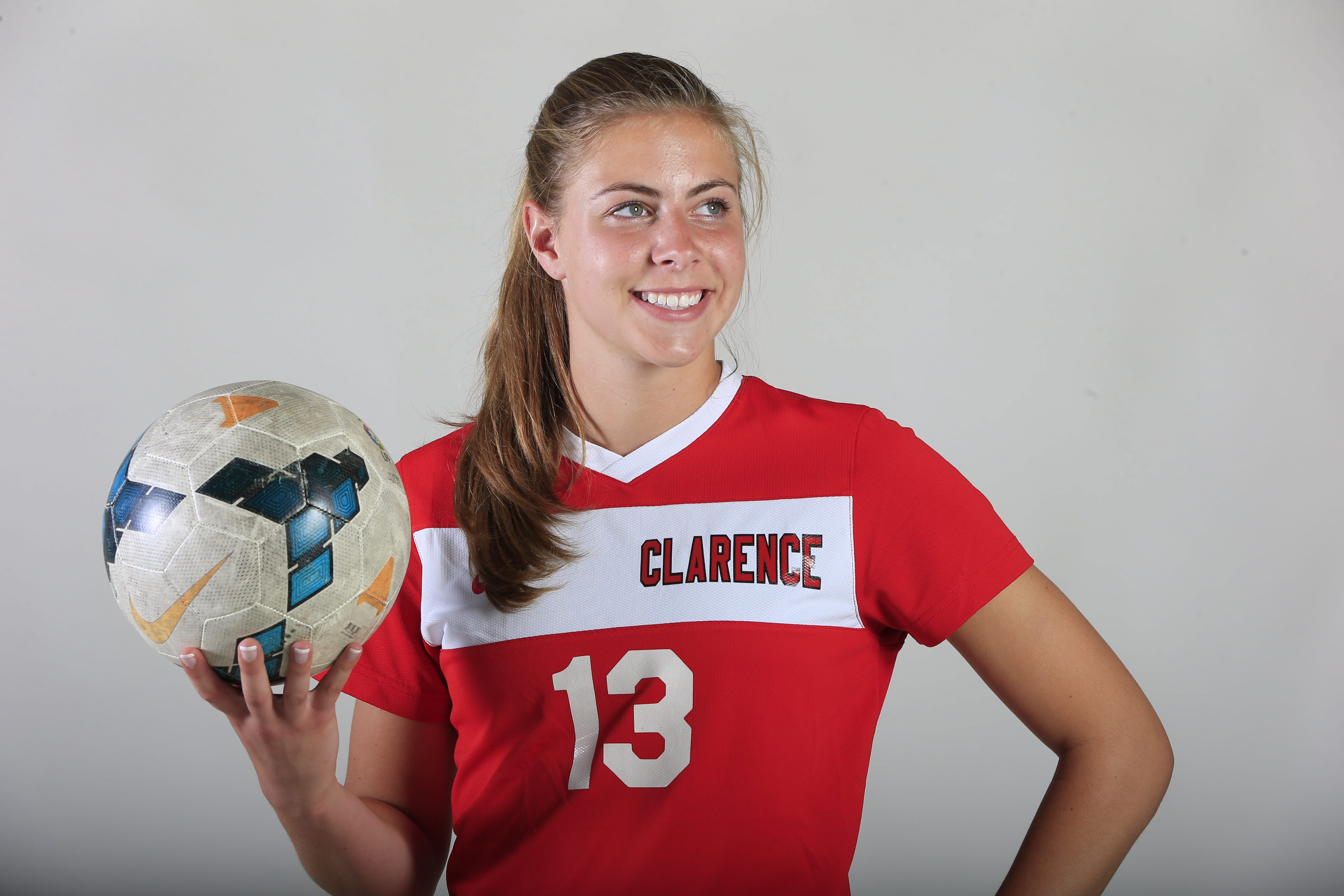 2014-15 Prep Talk Player of the Year for girls soccer: Sydney Cerza, Clarence. (Harry Scull Jr./Buffalo News)