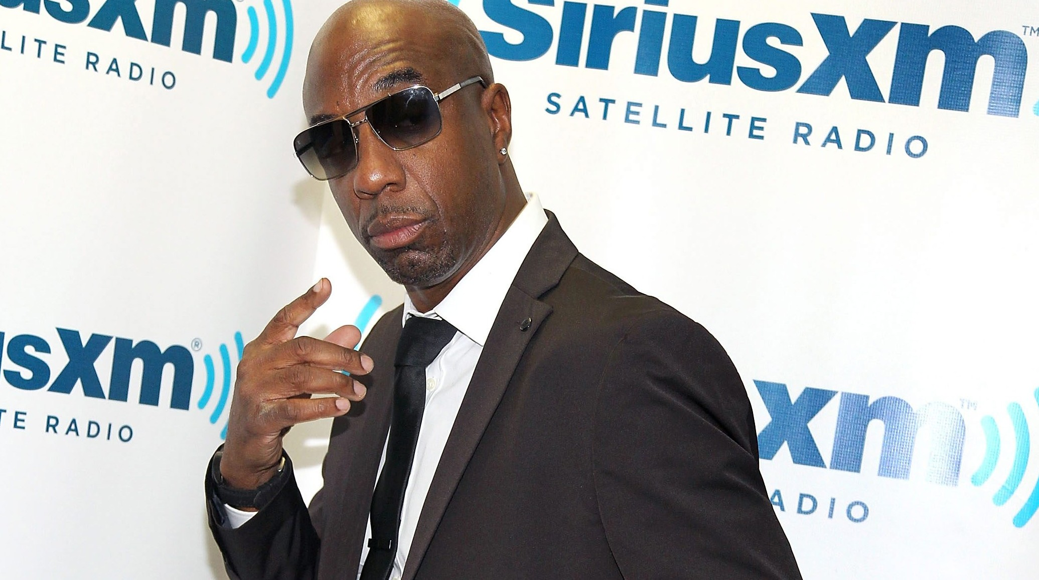 J.B. Smoove in studio during Jenny McCarthy's SiriusXM Show 'Dirty, Sexy, Funny With Jenny McCarthy' live from The SiriusXM Studios In Los Angeles on February 27, 2015.  (Photo by Rachel Murray/Getty Images for SiriusXM)