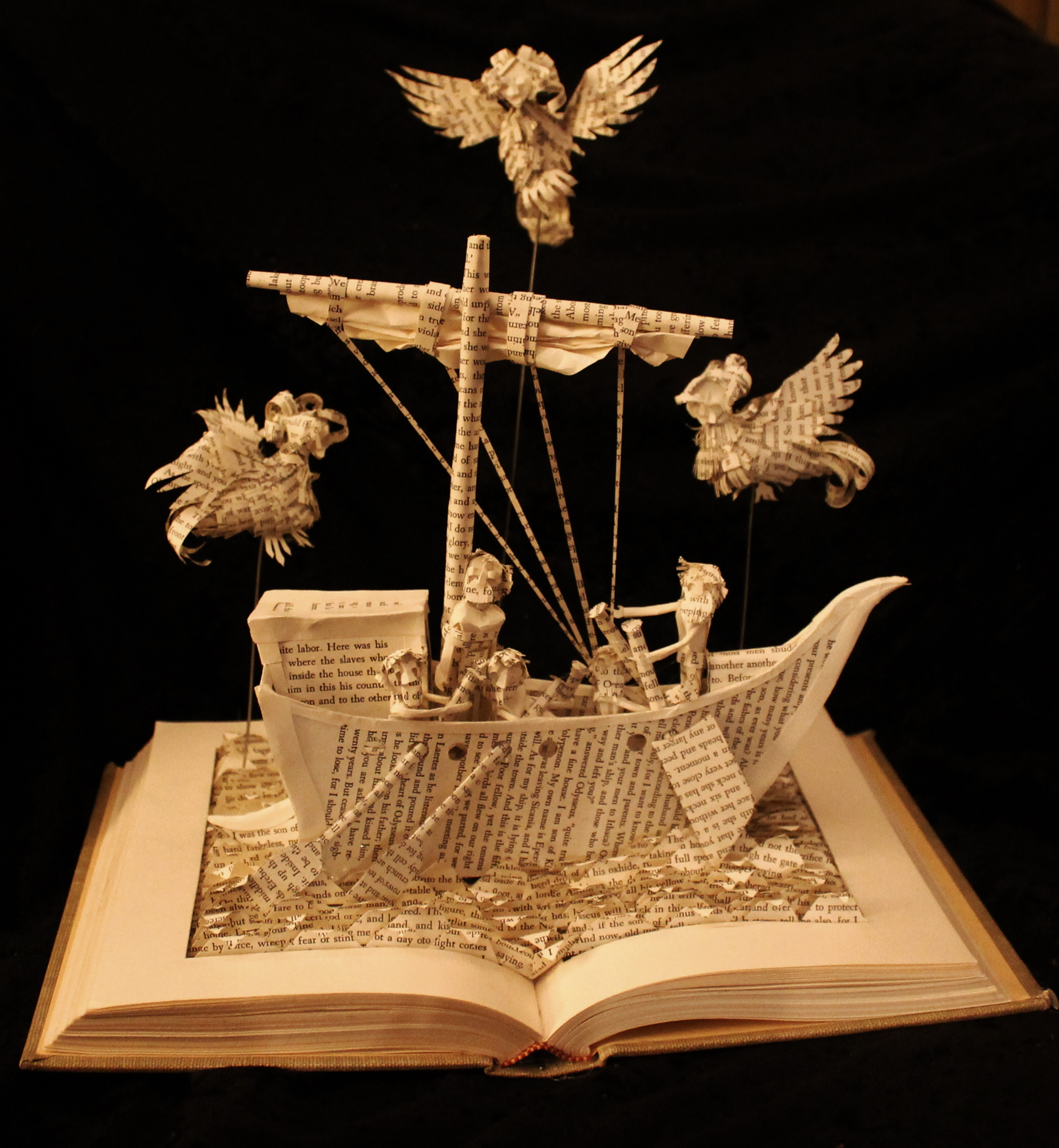 """""""The Odyssey,"""" a paper work by Jodi Harvey-Brown, is part of the Kenan Center's """"100 American Craftsmen."""""""