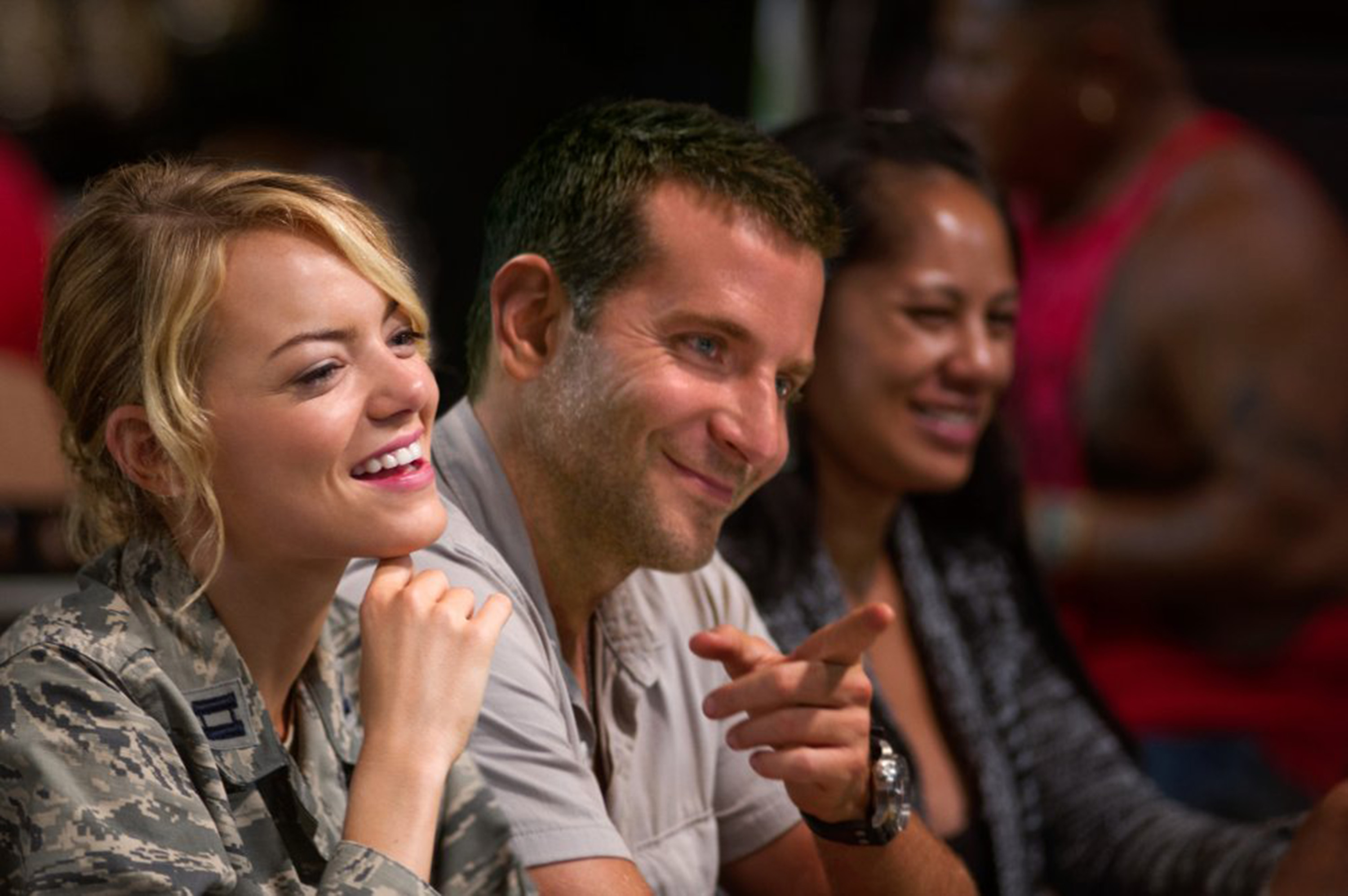 """Emma Stone and Bradley Cooper have a few good moments of dialogue in """"Aloha"""" but not enough to save the movie from mediocrity."""