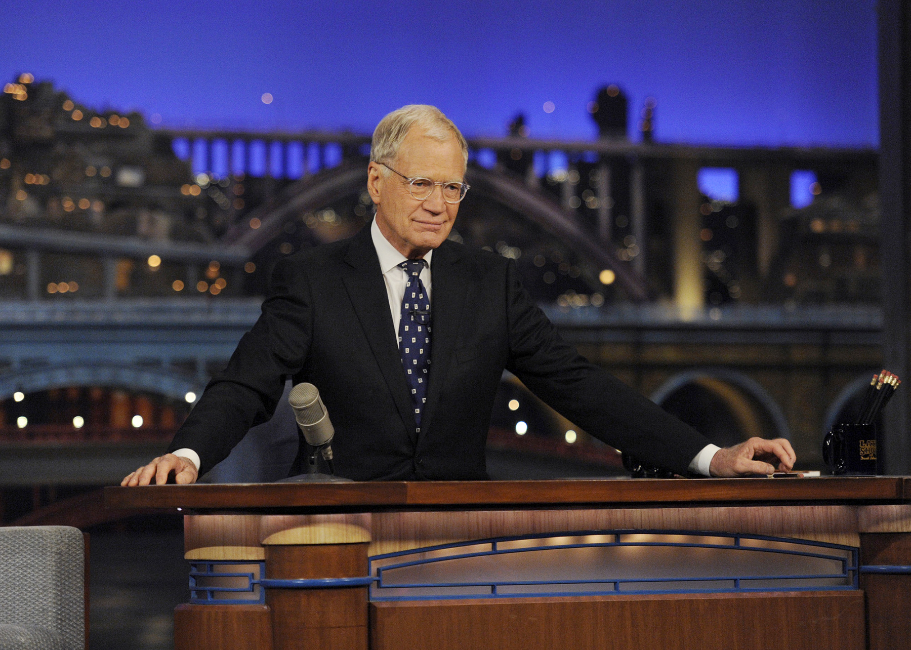 After 33 years in late-night television, 6,028 broadcasts, nearly 20,000 total guest appearances, 16 Emmy Awards and more than 4,600 career Top 10 Lists, David Letterman says goodbye to late-night television audiences. (CBS photo)
