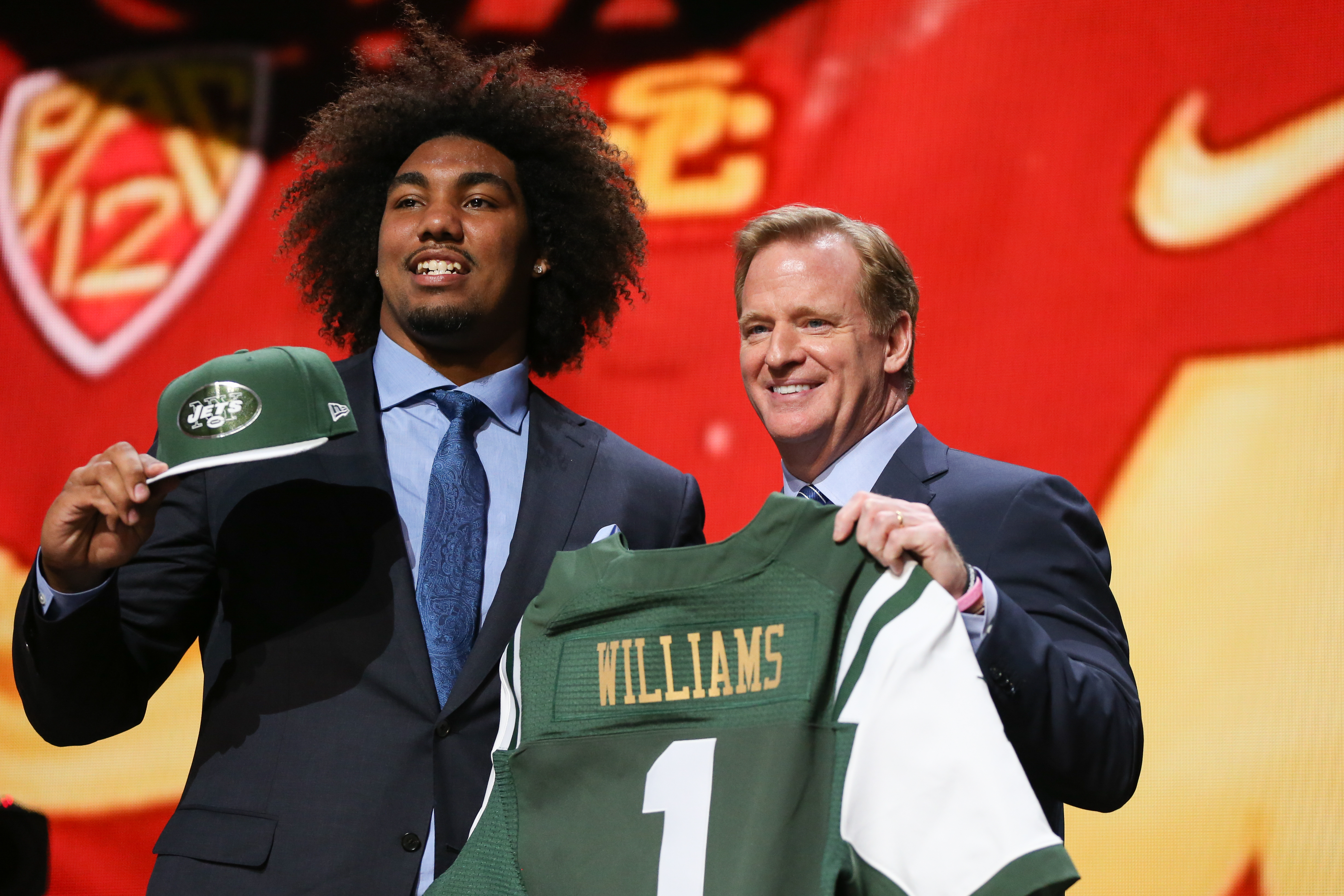 """Getty Images  The Jets got a gift when defensive tackle Leonard Williams, considered by many experts the best talent in the draft, fell to them at sixth overall. Rex Ryan's former team might have the best defensive line in the league, which will make it difficult to execute his """"ground and pound"""" running attack against the Jets twice a year."""
