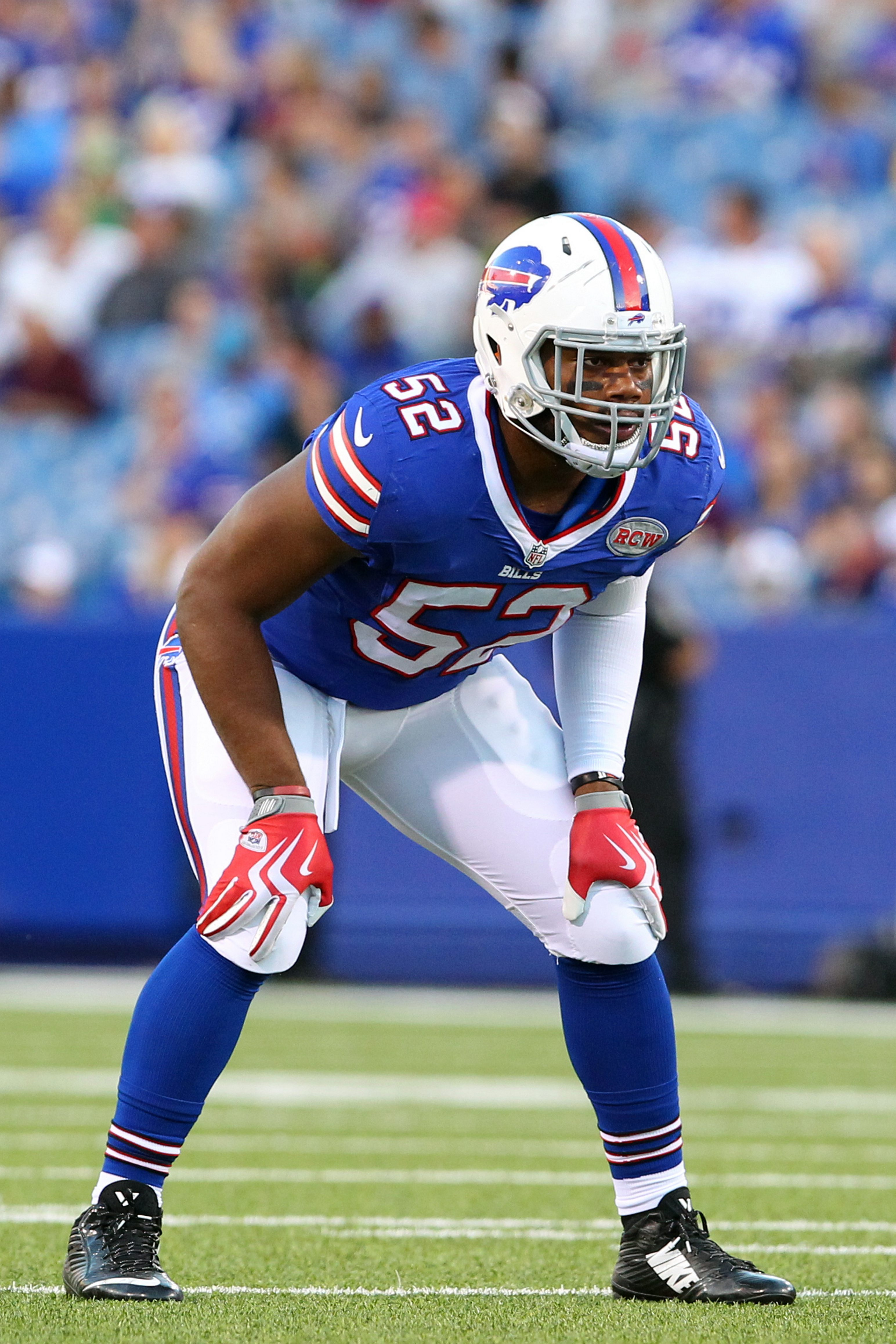 Buffalo Bills linebacker Preston Brown is assuming the role of  'mike' linebacker, making the play calls.