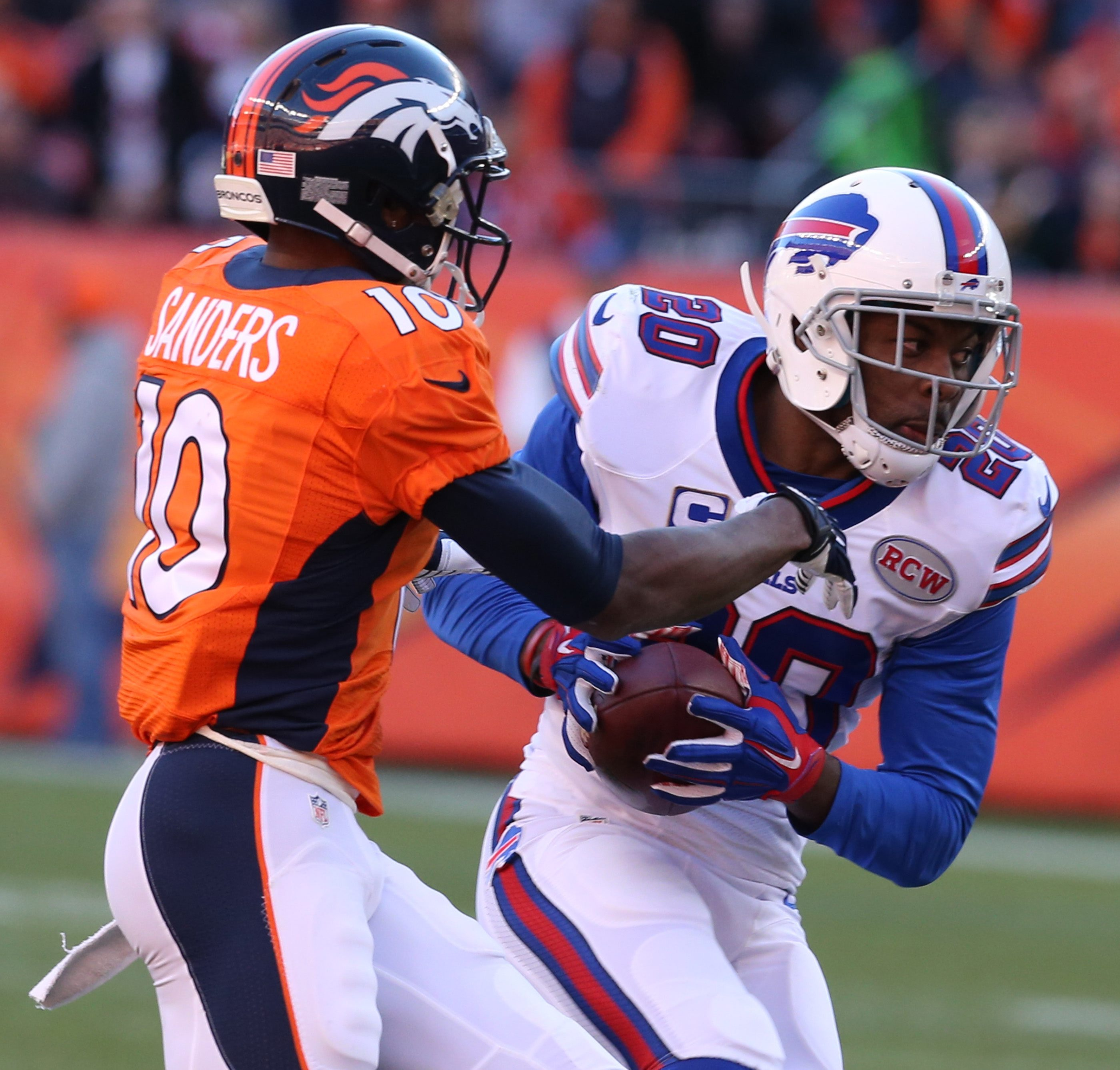 Buffalo's Corey Graham had a team-leading 15 passes defensed to go with two interceptions, including one against Denver.