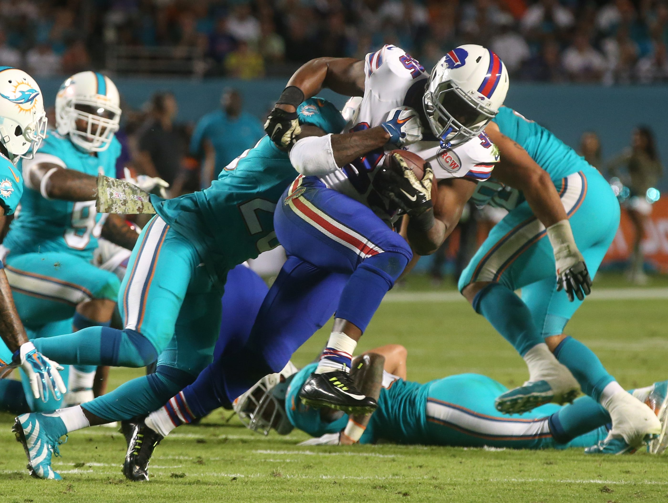 Bills running back Bryce Brown is currently away from the team tending to a personal matter and did not participate in the recent voluntary veteran minicamp. His missed time has put him behind the other running backs he's competing against for a spot on the roster.