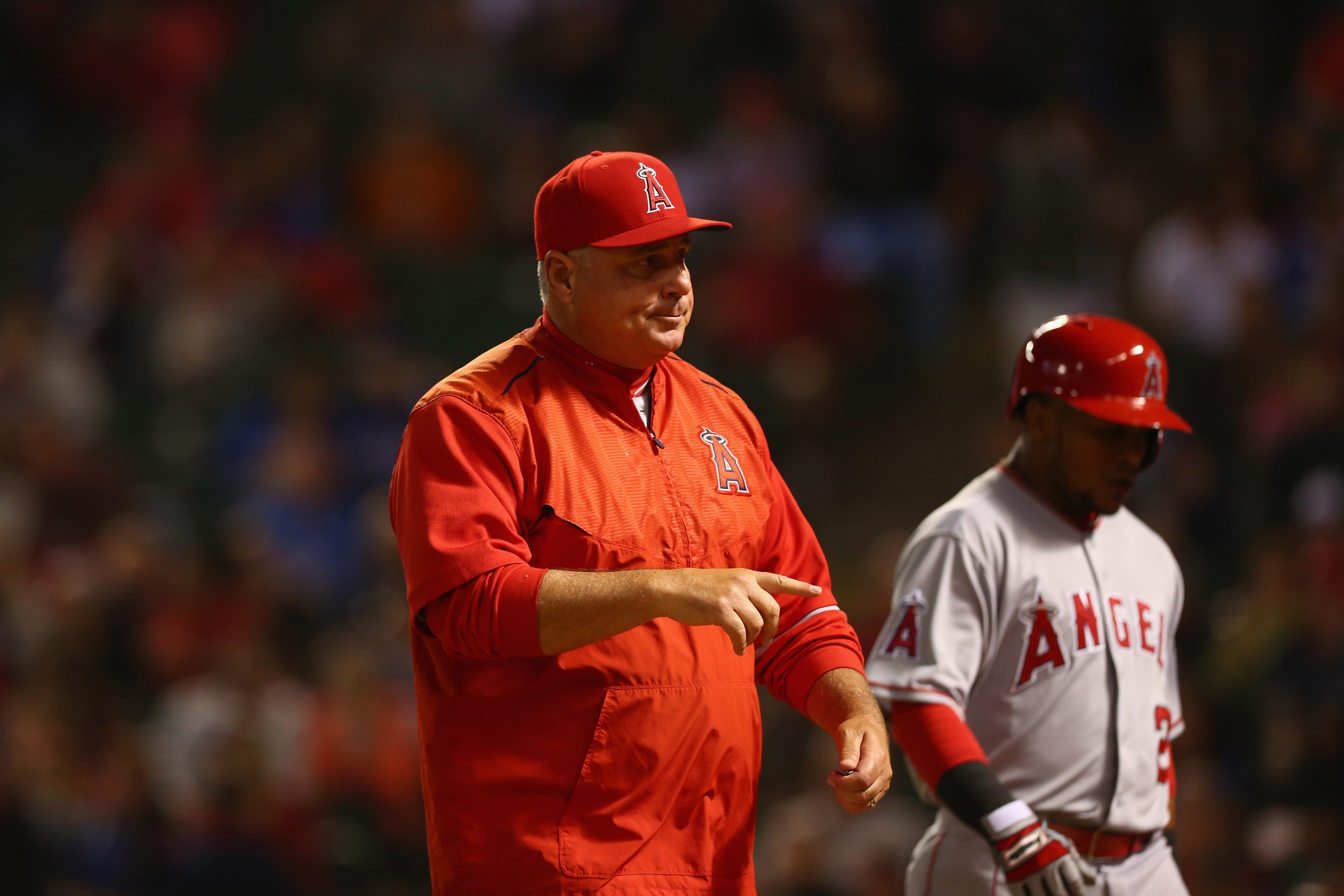 Angels manager Mike Scioscia said that no matter how someone ended up as a manager, it's wins and losses that will determine his fate.
