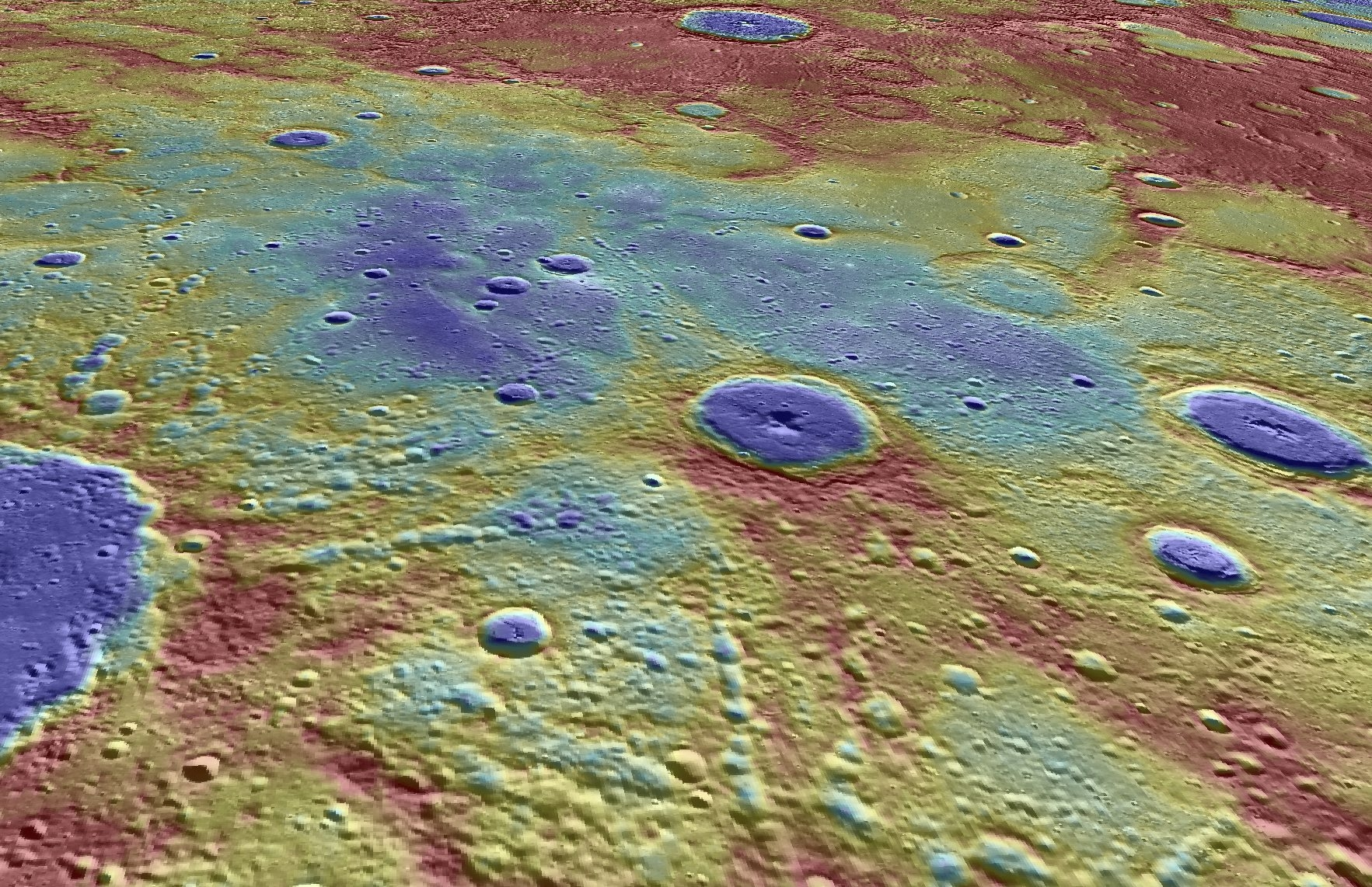 This image of Mercury was created using elevation and imaging data gathered by the Messenger spacecraft before it crashed on April 30.
