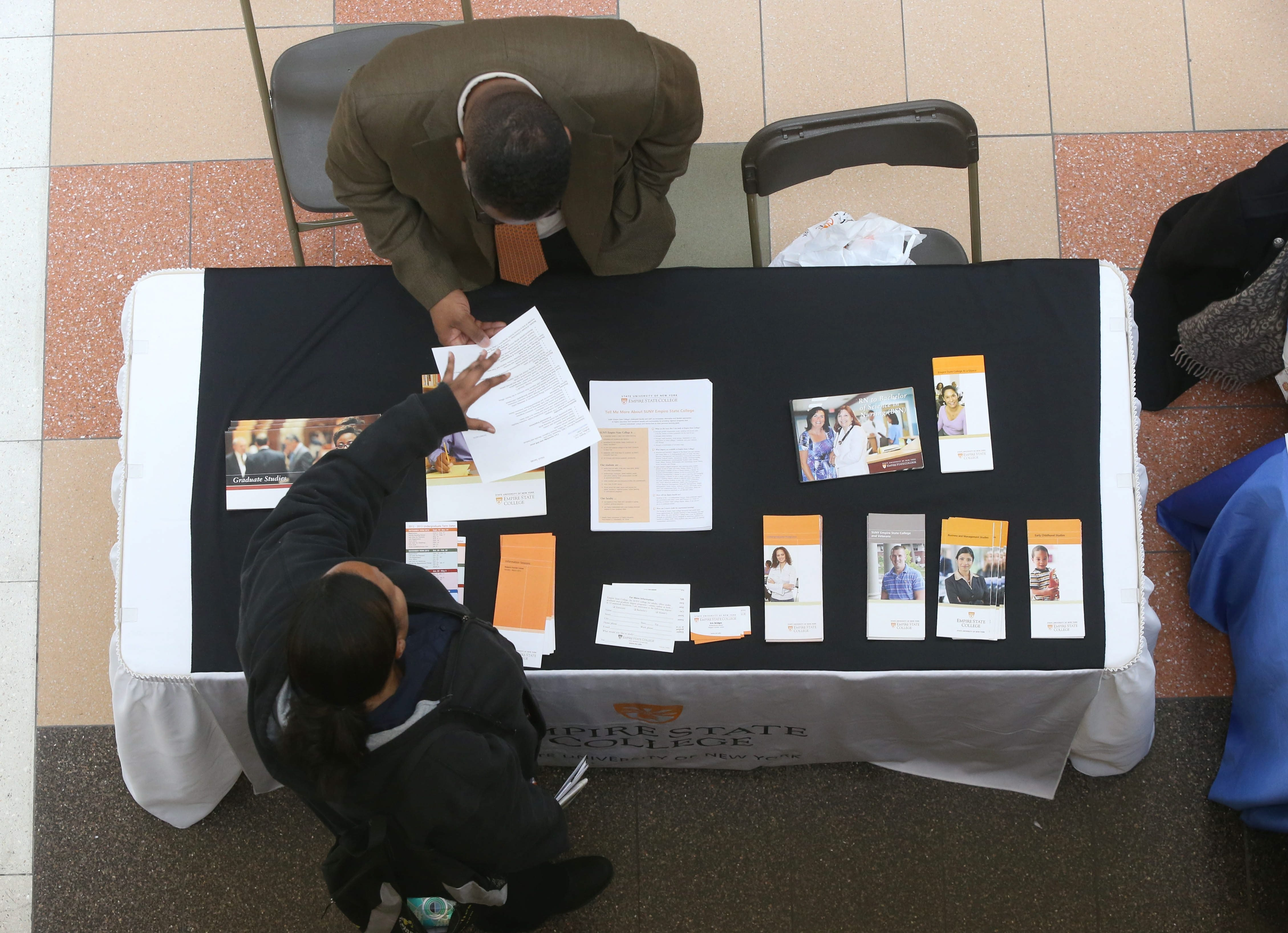 """Job fairs such as those sponsored by Cheektowaga Chamber of Commerce at Walden Galleria have reaped benefits for applicants in region. """"I'm liking what I'm seeing,"""" a state expert says. """"We're growing at a better pace"""" that """"could be sustainable for a long time."""""""