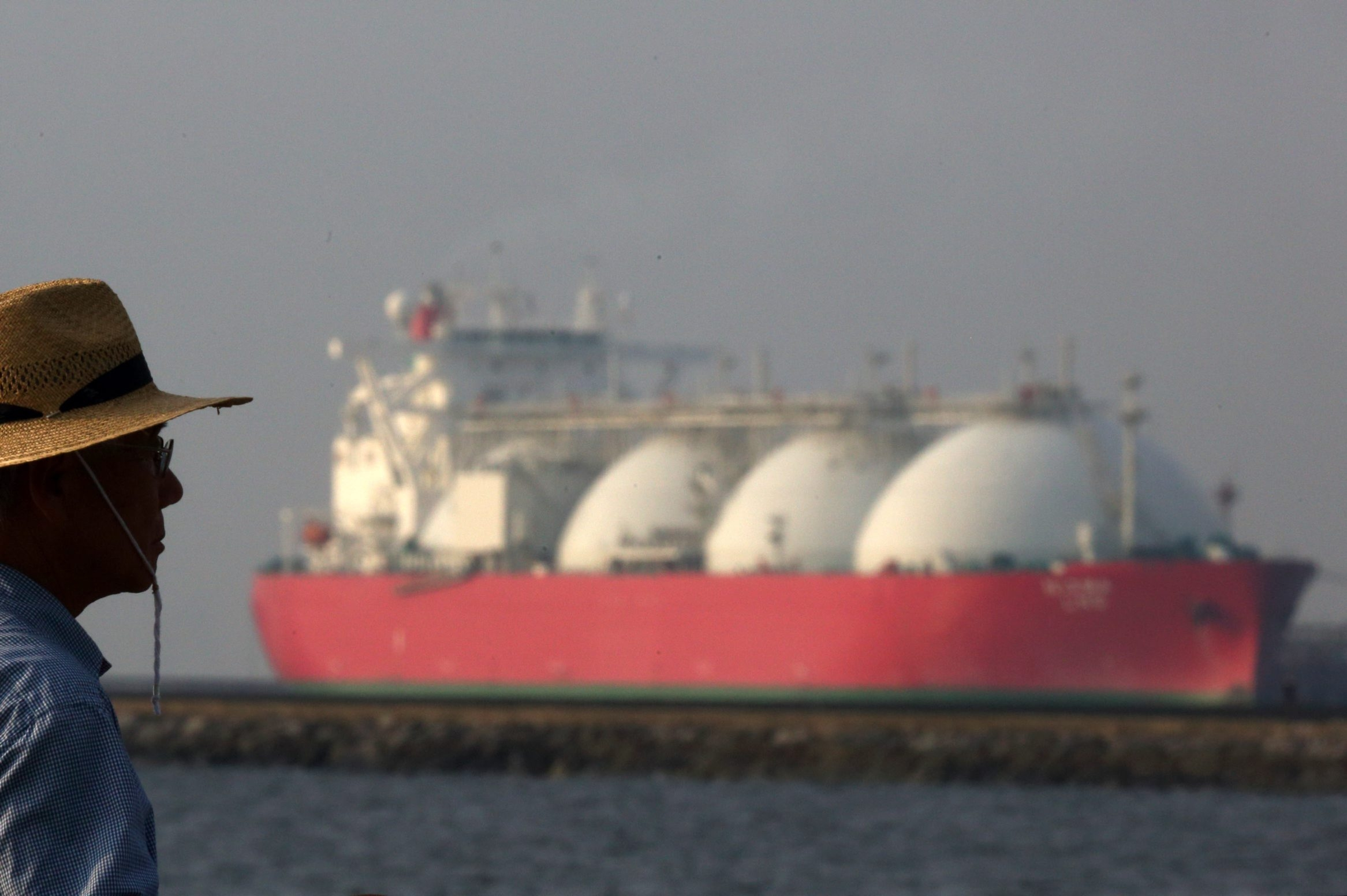 Liquefied natural gas transported in tankers like this one in Japan will make U.S. the world's No.3 exporter.