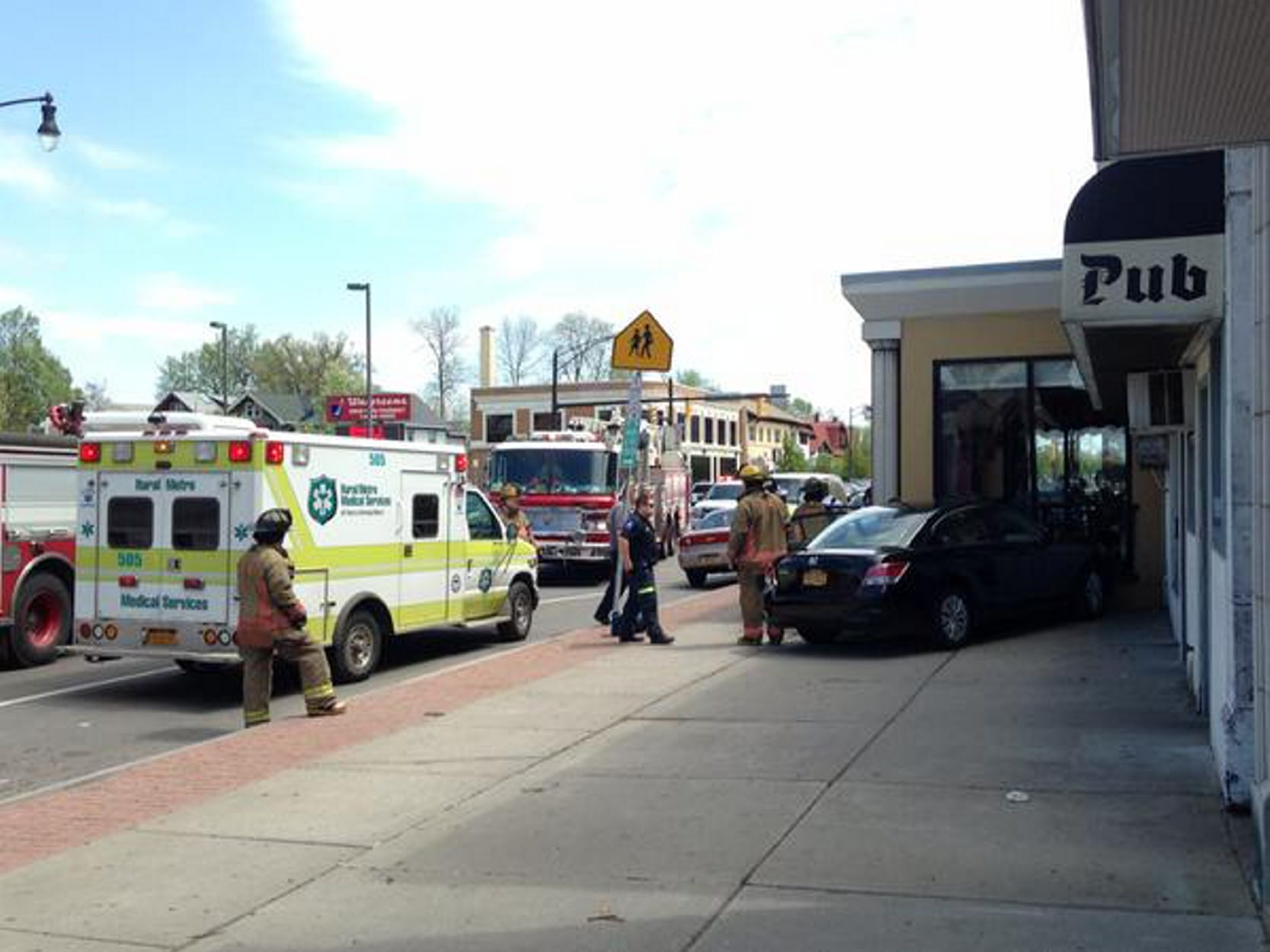 Rural/Metro defended its 48-minute response time to this accident scene on Hertel Avenue. (Derek Gee/Buffalo News)