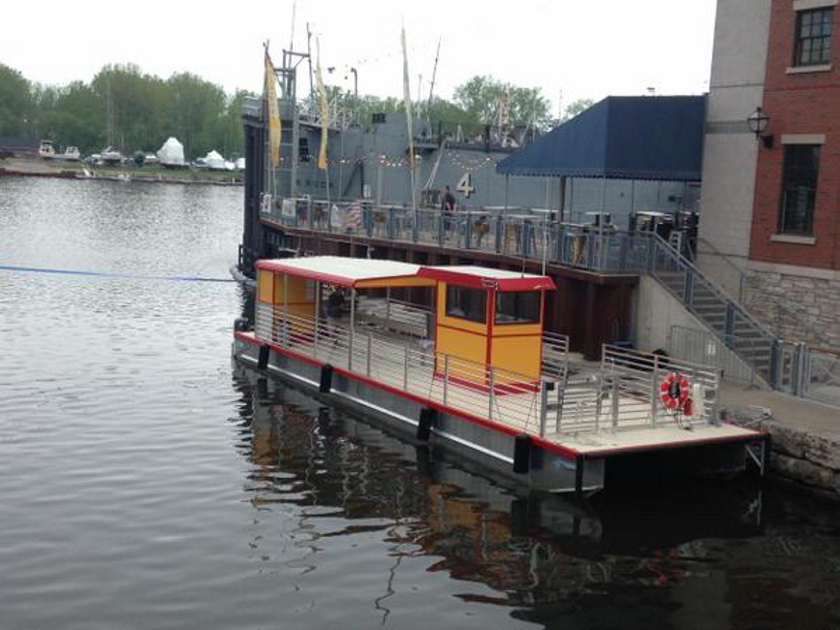 The Queen City Bike Ferry starts operations Monday, between Canalside and the Outer Harbor. ((John Hickey/Buffalo News)