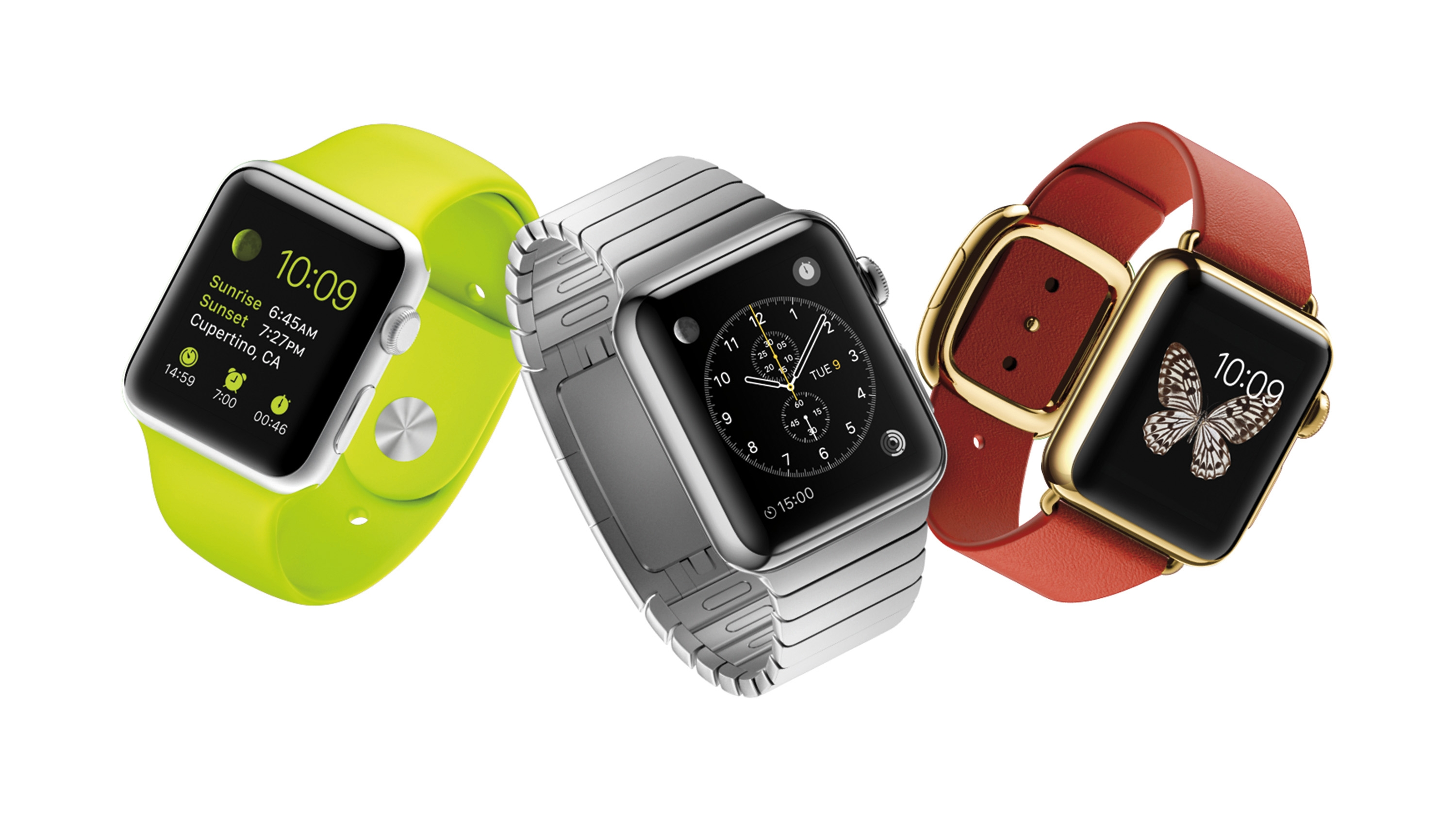 The Apple Watch comes in three distinctive styles: the Apple Watch, the Apple Watch Sport and the Apple Watch Edition. (Photo courtesy Apple/TNS)