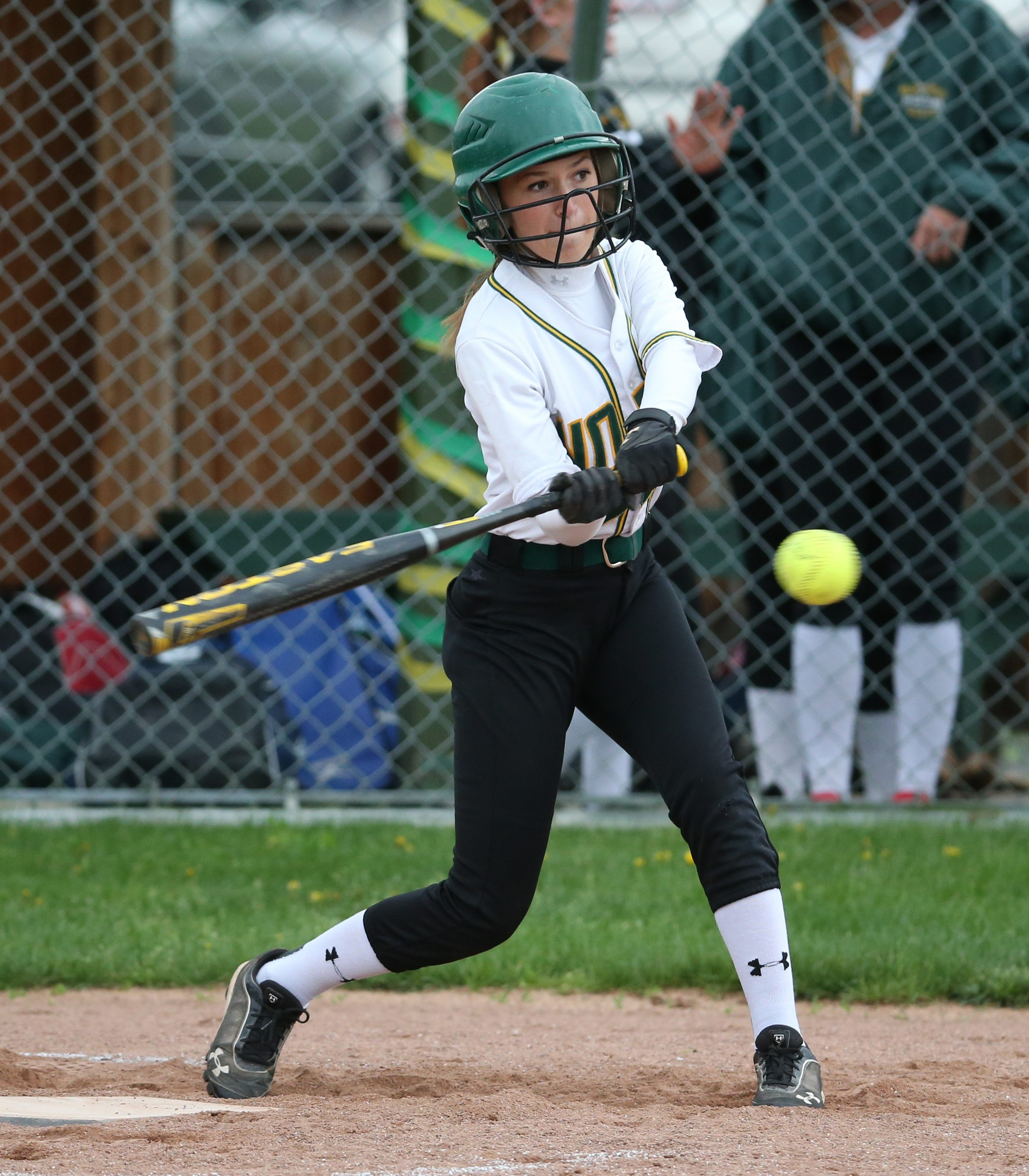 Erin Fabian of Williamsville North hits a single in Tuesday's 7-2 victory over Lancaster.