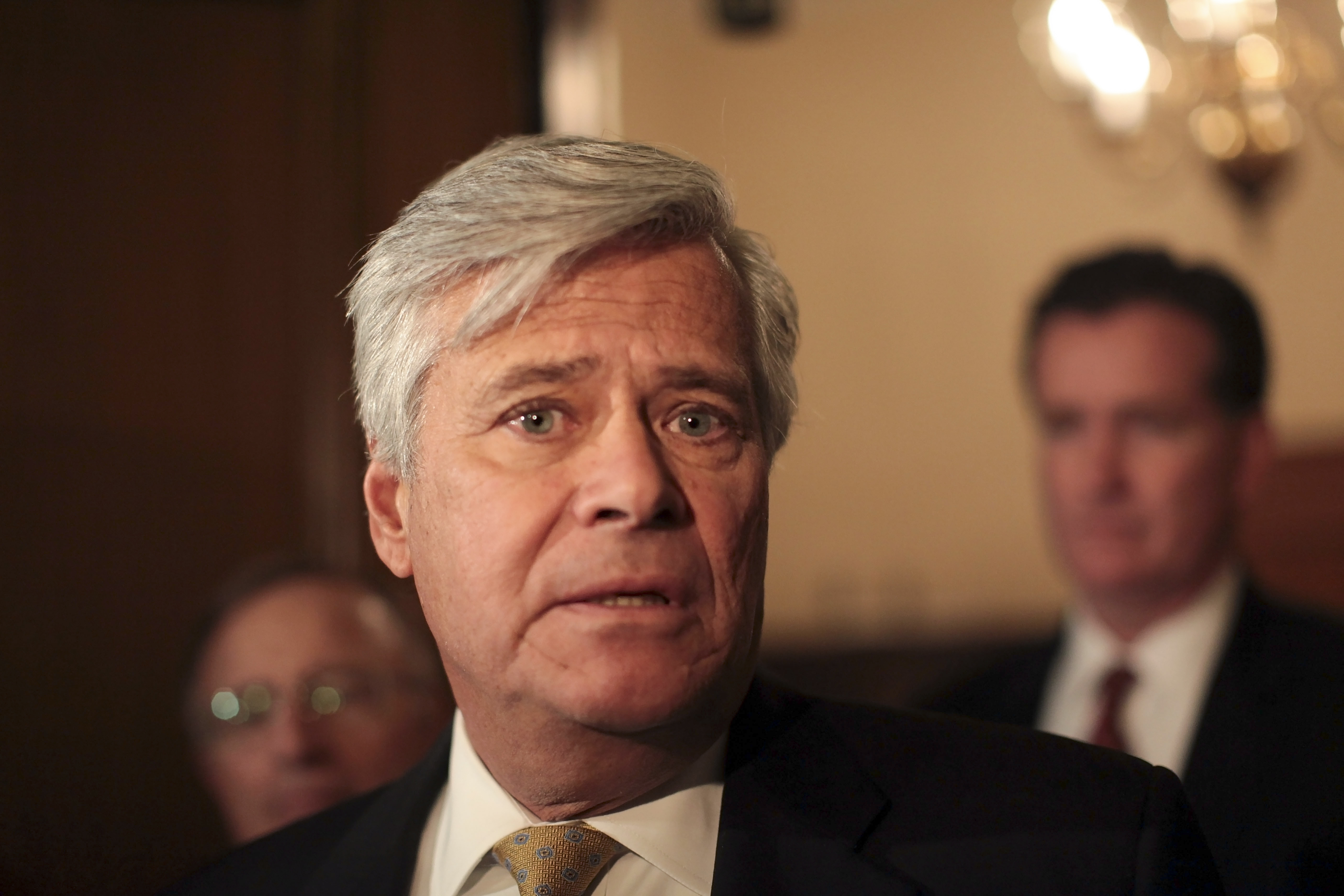 Long Island Republican Dean Skelos speaks to reporters in Albany on March 30. (New York Times file photo)