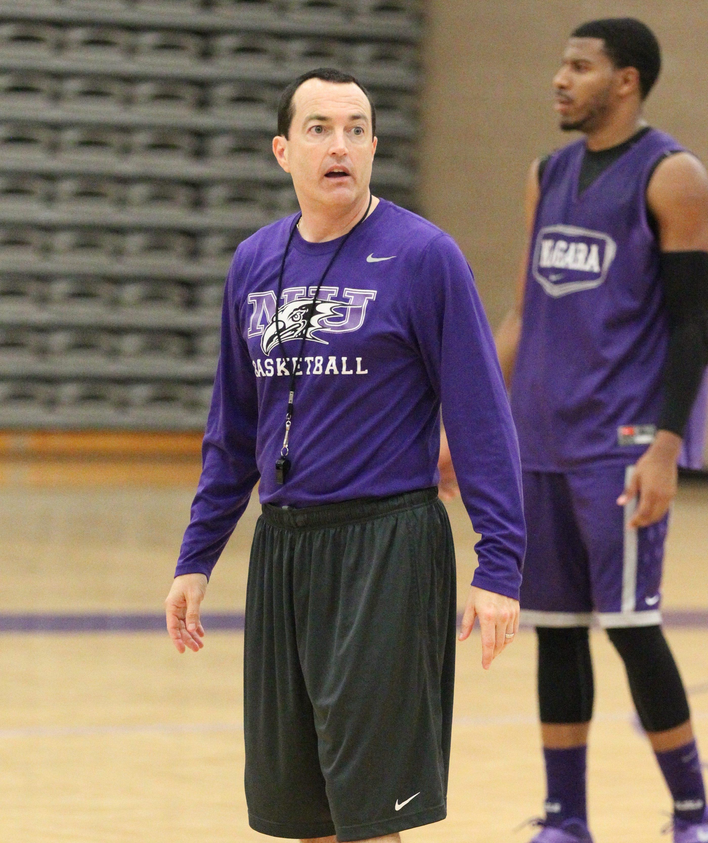 Niagara men's basketball coach Chris Casey.