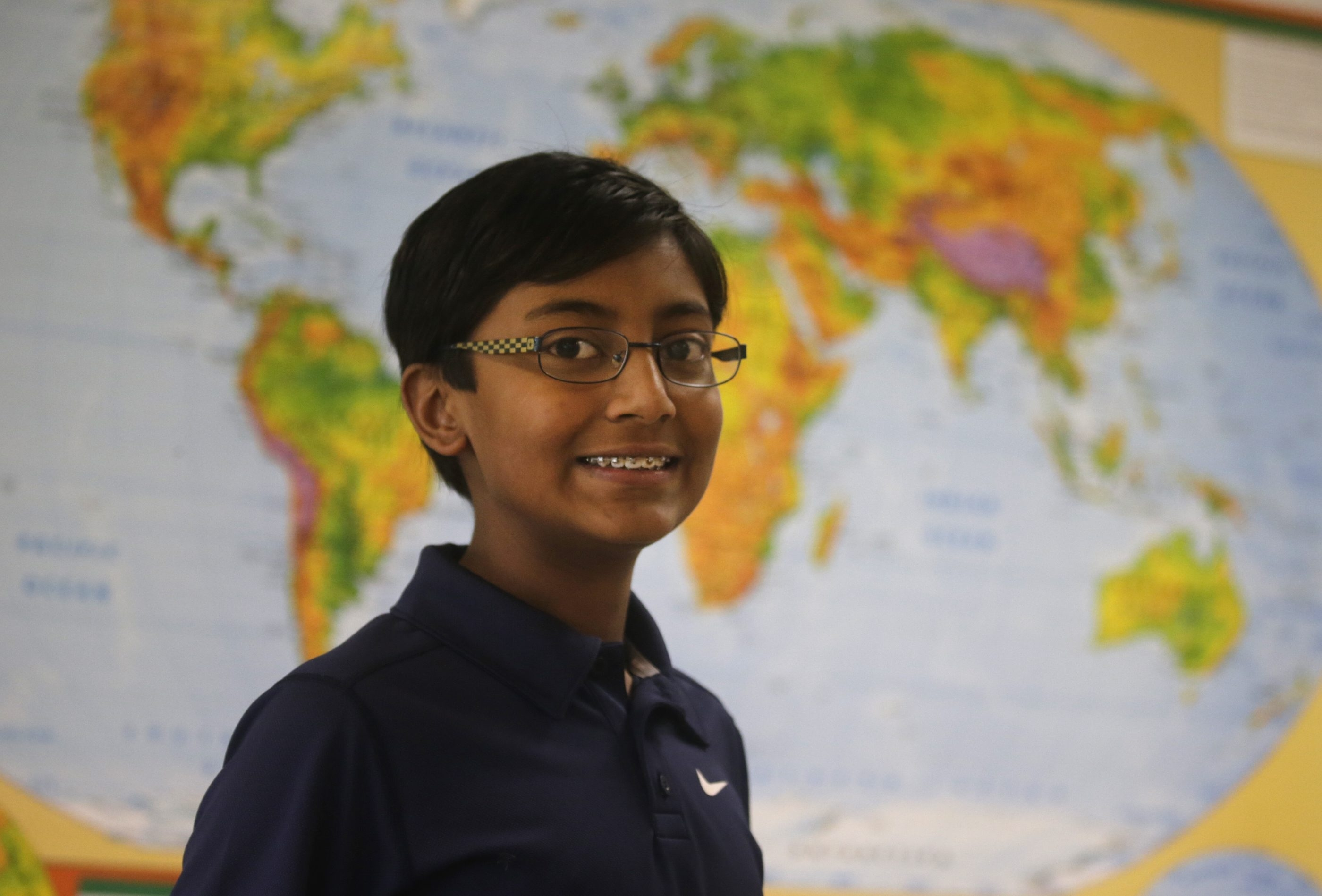 "Arnav Patra will represent New York State in the national championship of the National Geographic Bee in Washington, D.C. Arnav says he's preparing by constantly studying the ""humongous,"" floor-to-ceiling map of the world in his room."