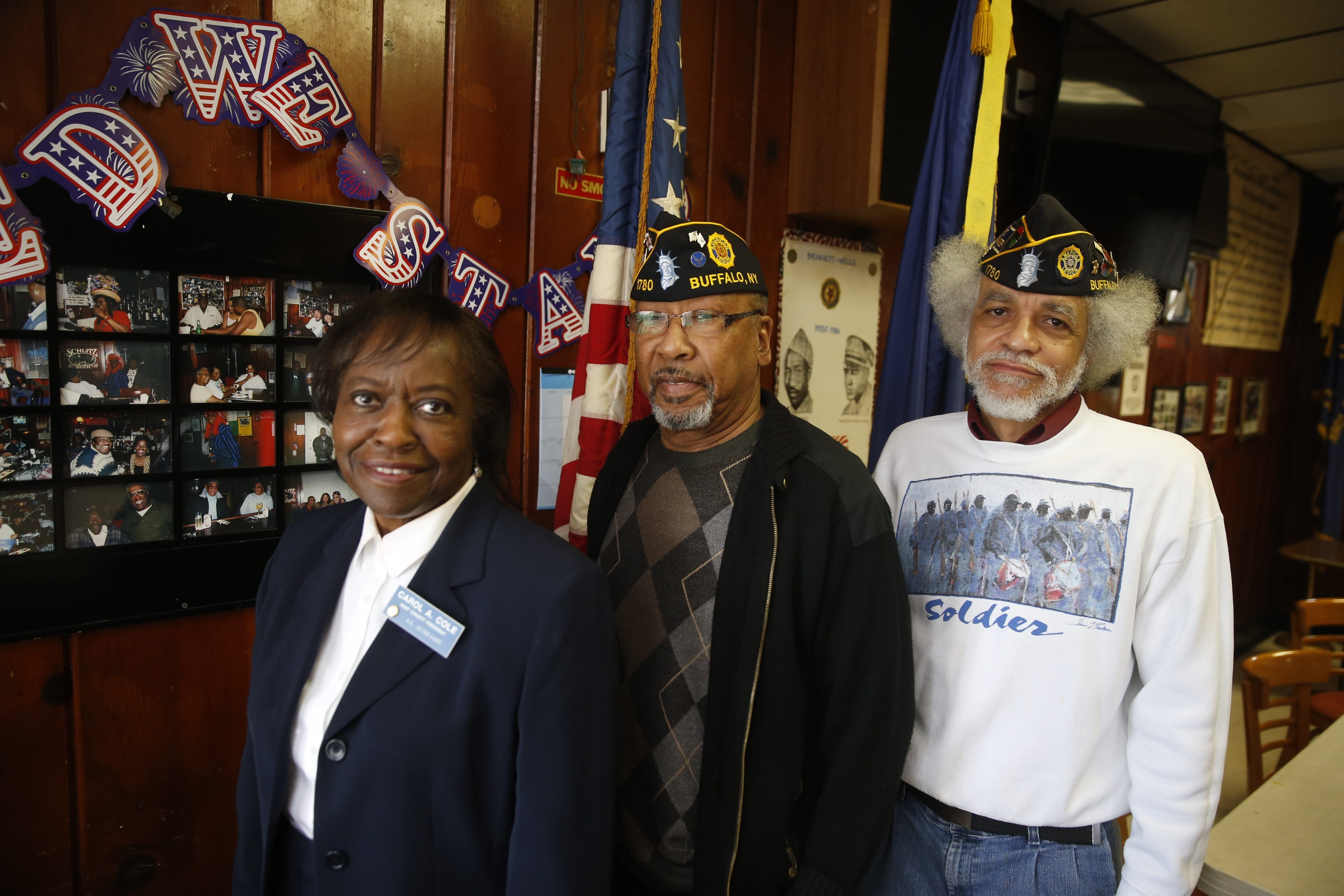Bennett-Wells American Legion Post 1780 has been revived thanks to the efforts of, from left, auxiliary member Carole Cole and post officials Henry Jernigan and Walter Cole.