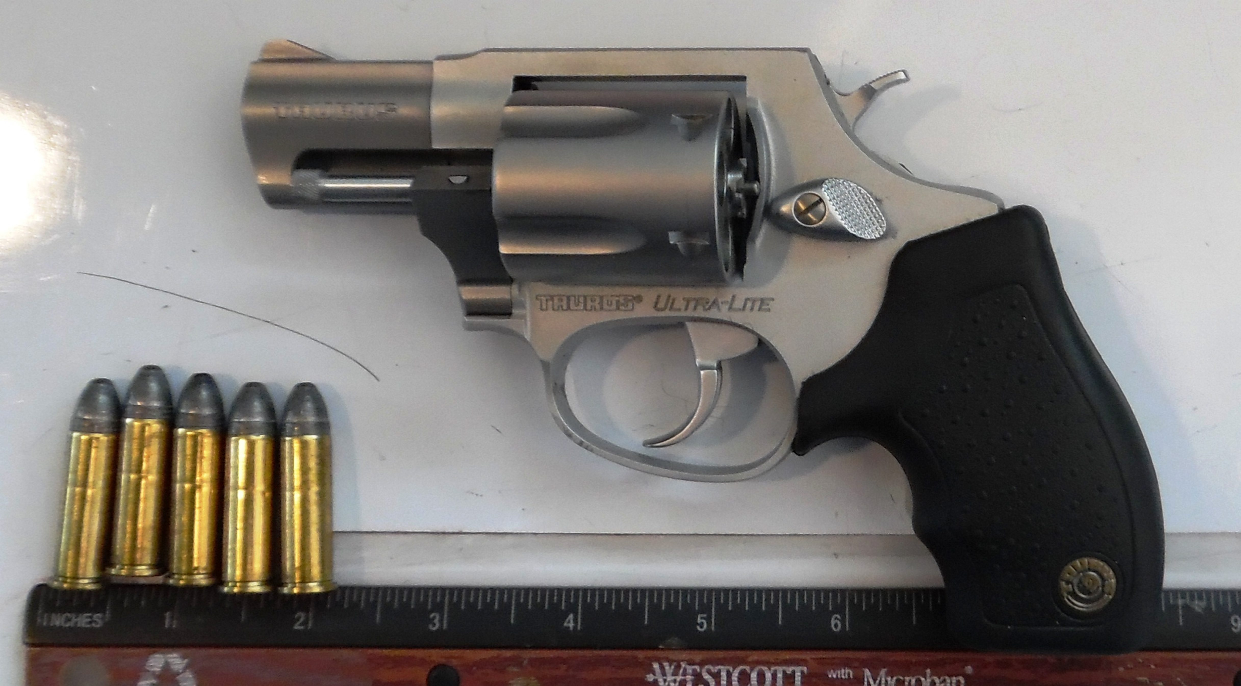 Loaded gun confiscated from a carry-on at Greater Buffalo Niagara Airport Friday.