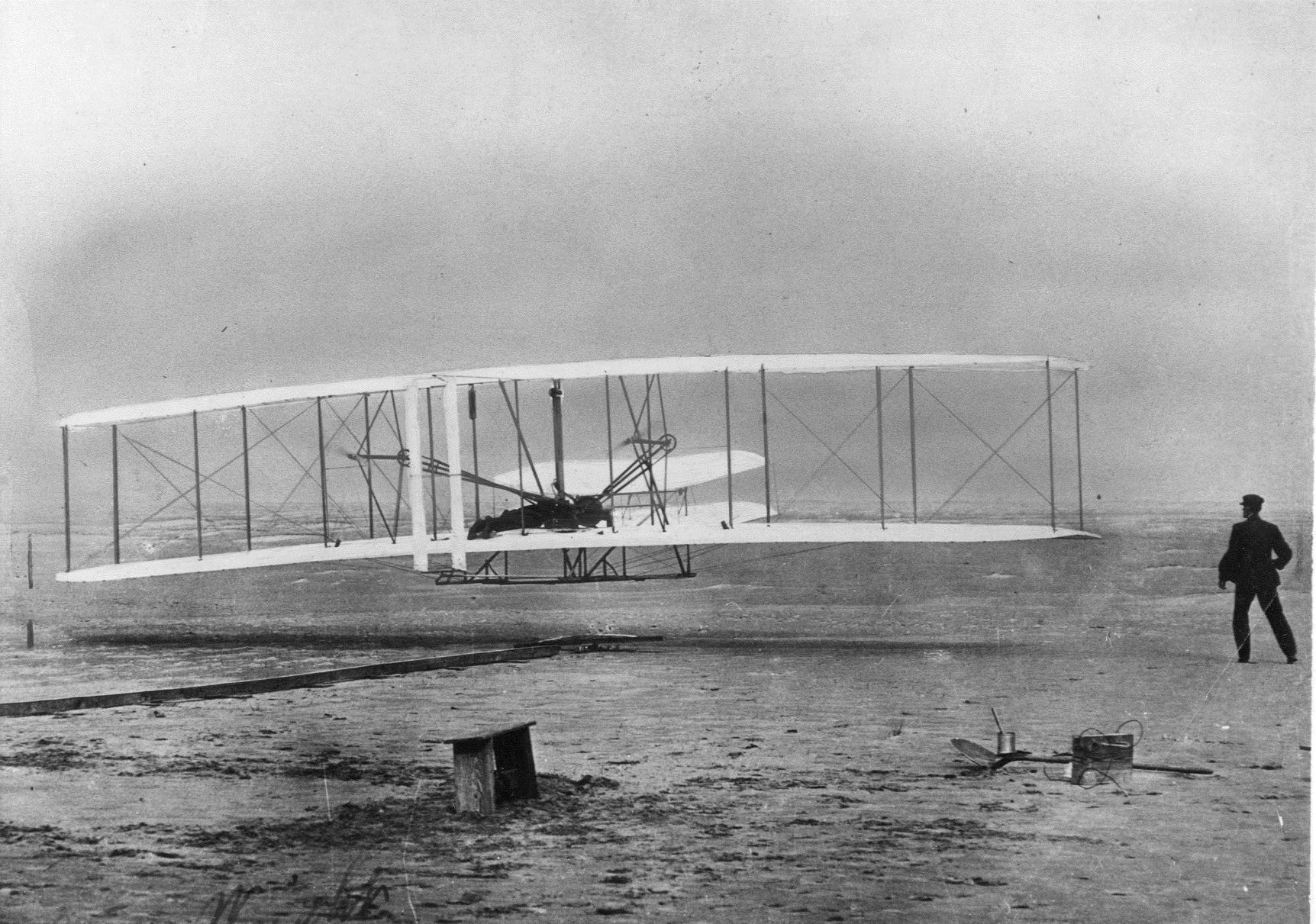 The Wright brothers made aviation history at Kitthyhawk, N.C., on Dec. 17, 1903.