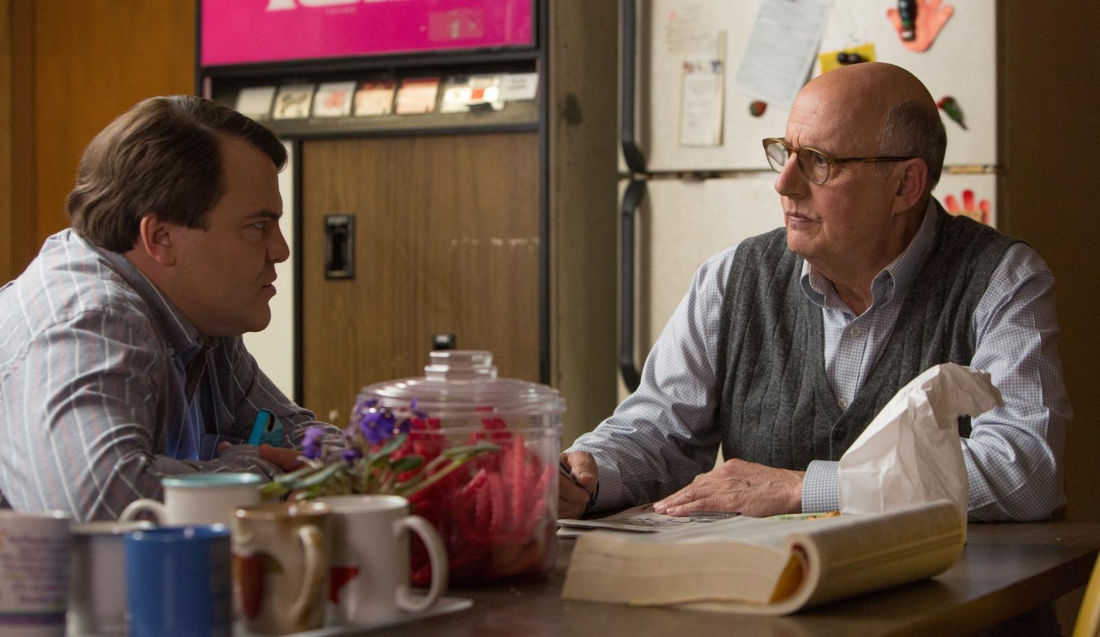 Jack Black, left, as Dan Landsman and Jeffrey Tambor as Bill Shurmur star in Jarrad Paul and Andrew Mogel's 'The D-Train.' (IFC Films)