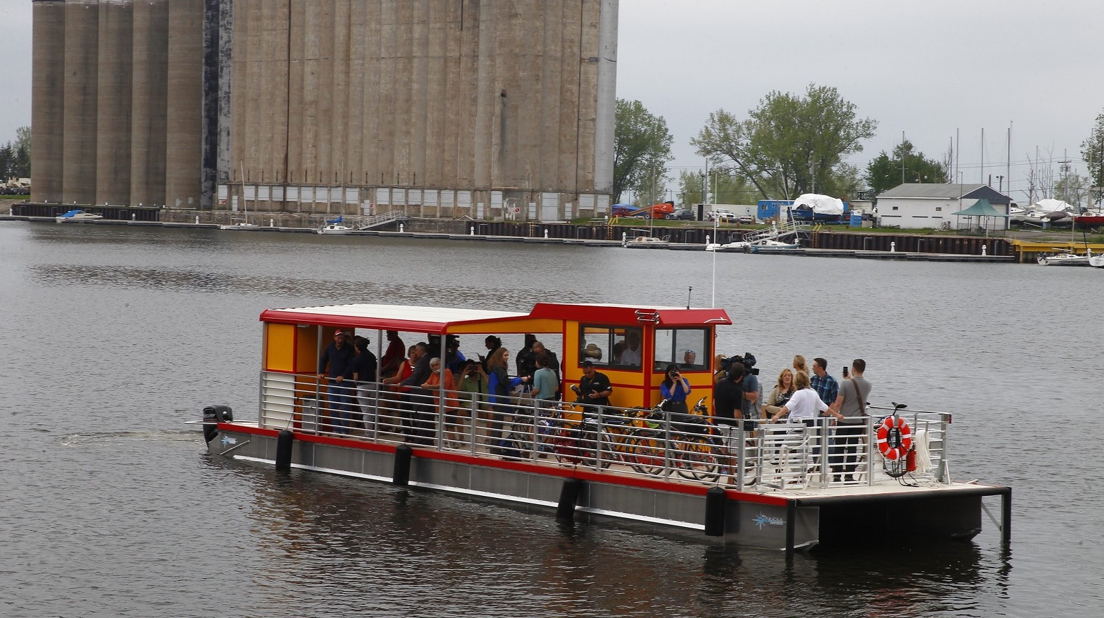 The Queen City Bike Ferry connects Canalside to the Outer Harbor at an affordable rate.  (John Hickey/Buffalo News)