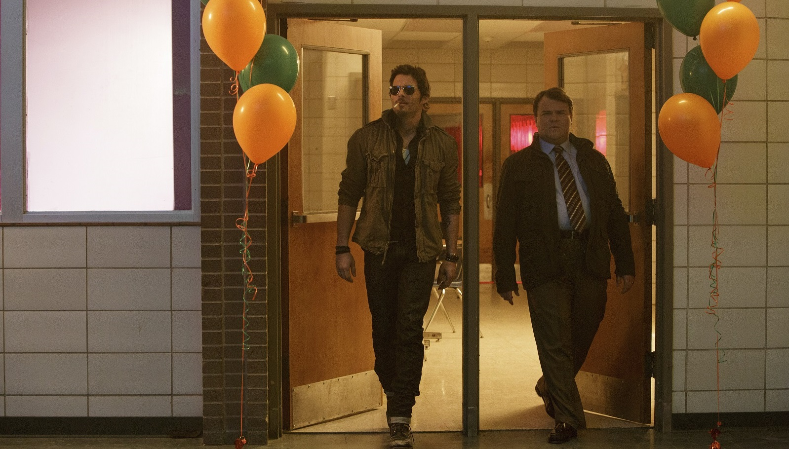 """James Marsden, left, and Jack Black in """"The D Train,' one of four movies opening in Buffalo this weekend. (New York Times)"""