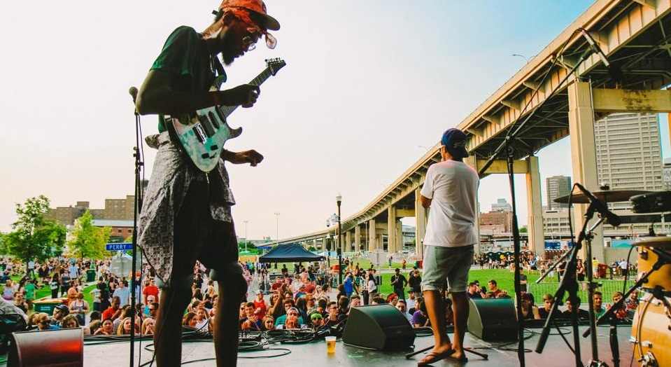 The Get Money Squad, performing above at Canalside, will compete Friday in the Artvoice BOOM competition. (Andy DeLuca)