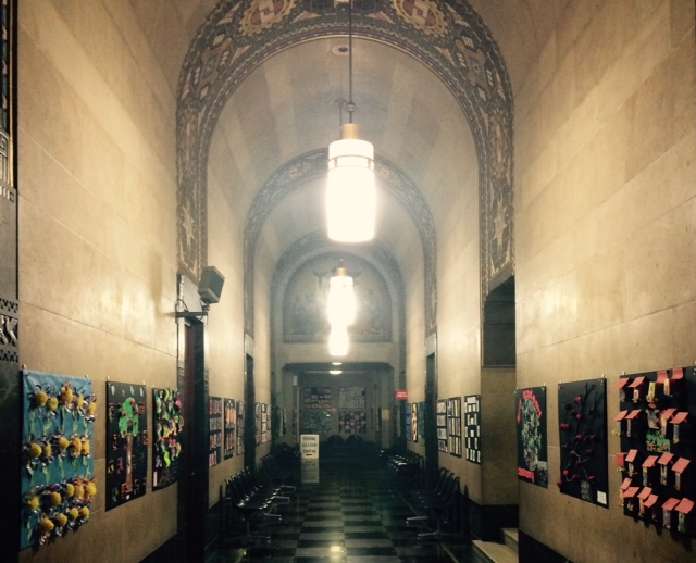 A hallway on the first floor of City Hall. (Photo by Susan Schulman)