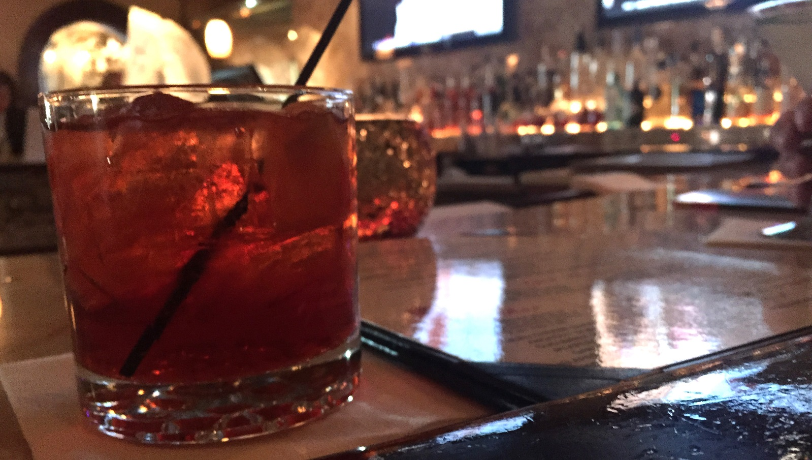 The barrel-aged Negroni from Salvatore's Italian Gardens. (Lizz Schumer/Special to the News)