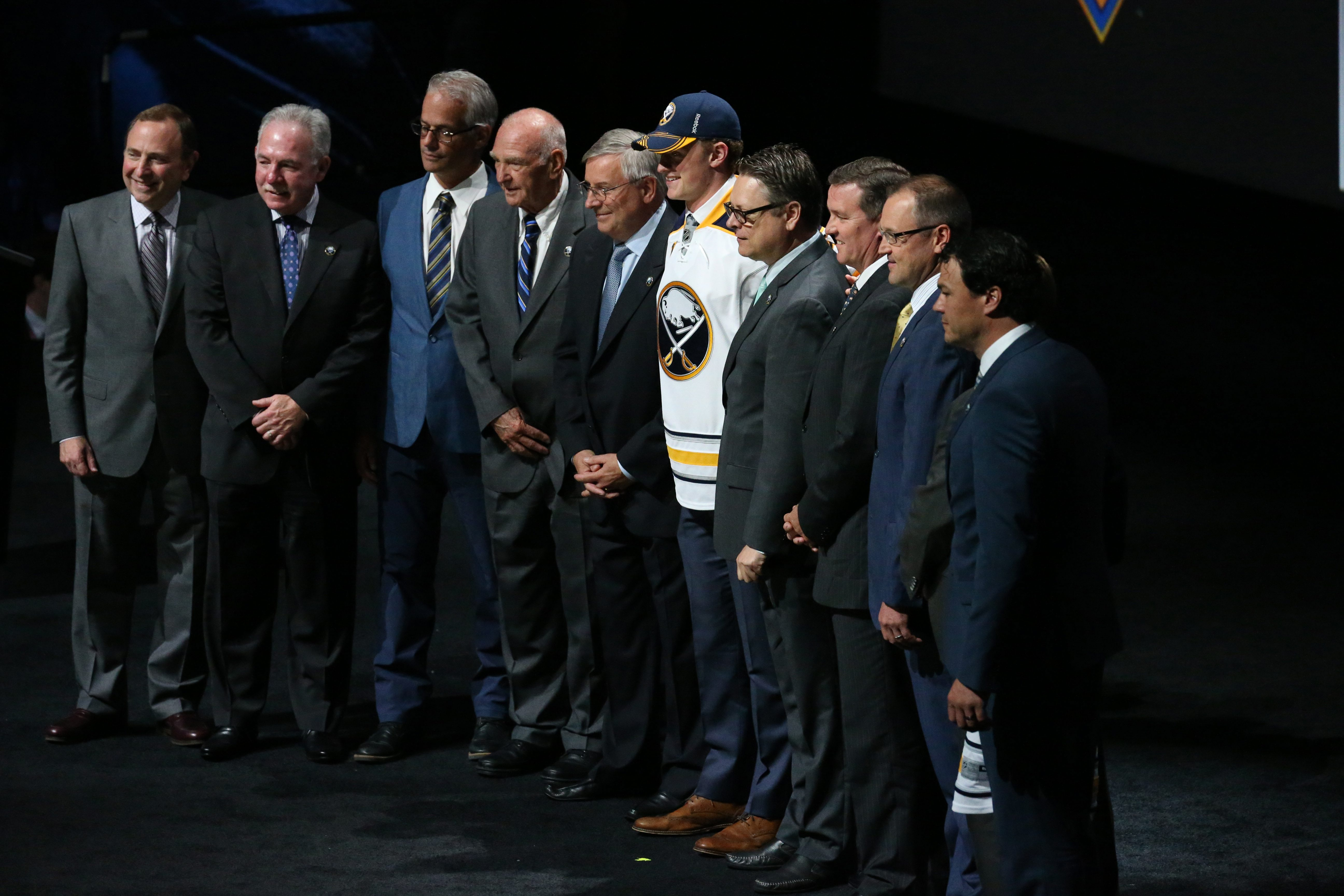 The Buffalo Sabres selected Jack Eichel with the second overall pick of the NHL Draft.  (James P. McCoy/ Buffalo News)