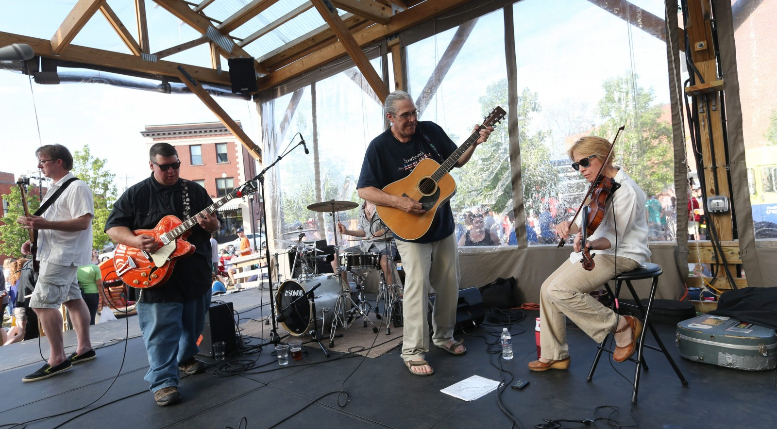 Food Truck Tuesdays at Larkvinville feature concerts by local bands like Shaky Stage, which will perform at the free event on July 28.